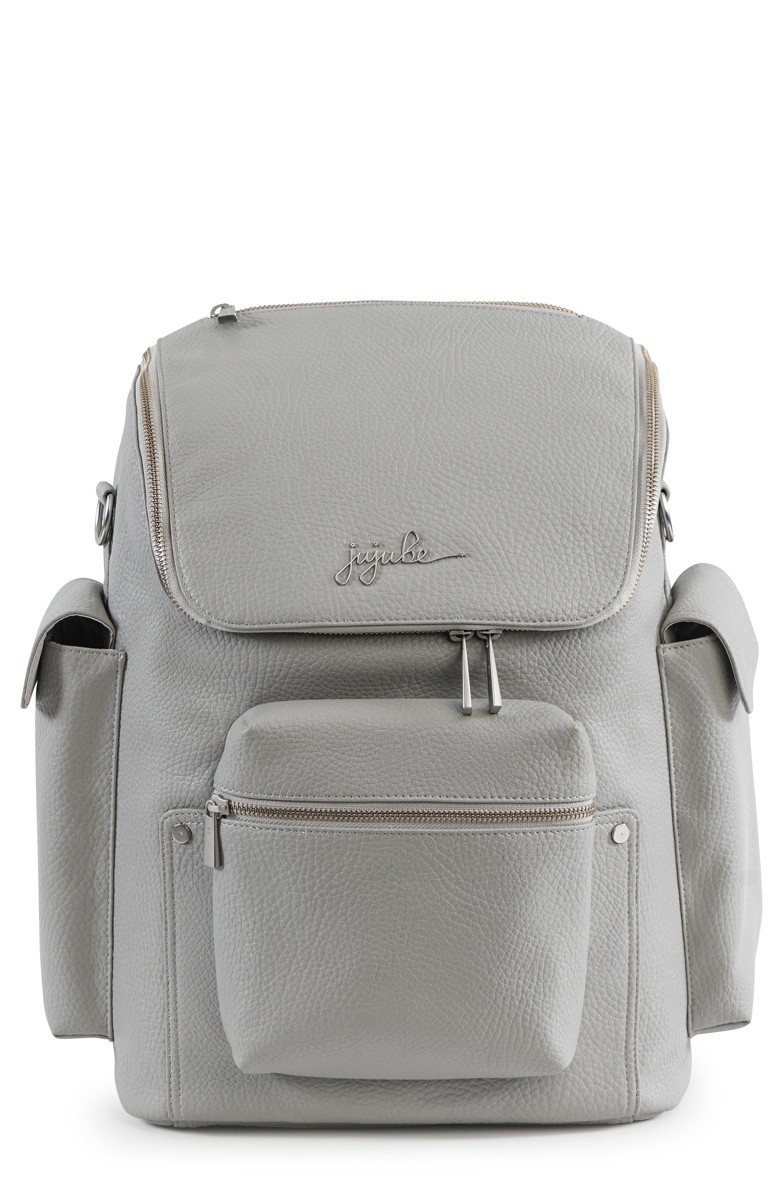 Ever Collection Forever Faux Leather Diaper Backpack,                             Main thumbnail 1, color,                             Stone