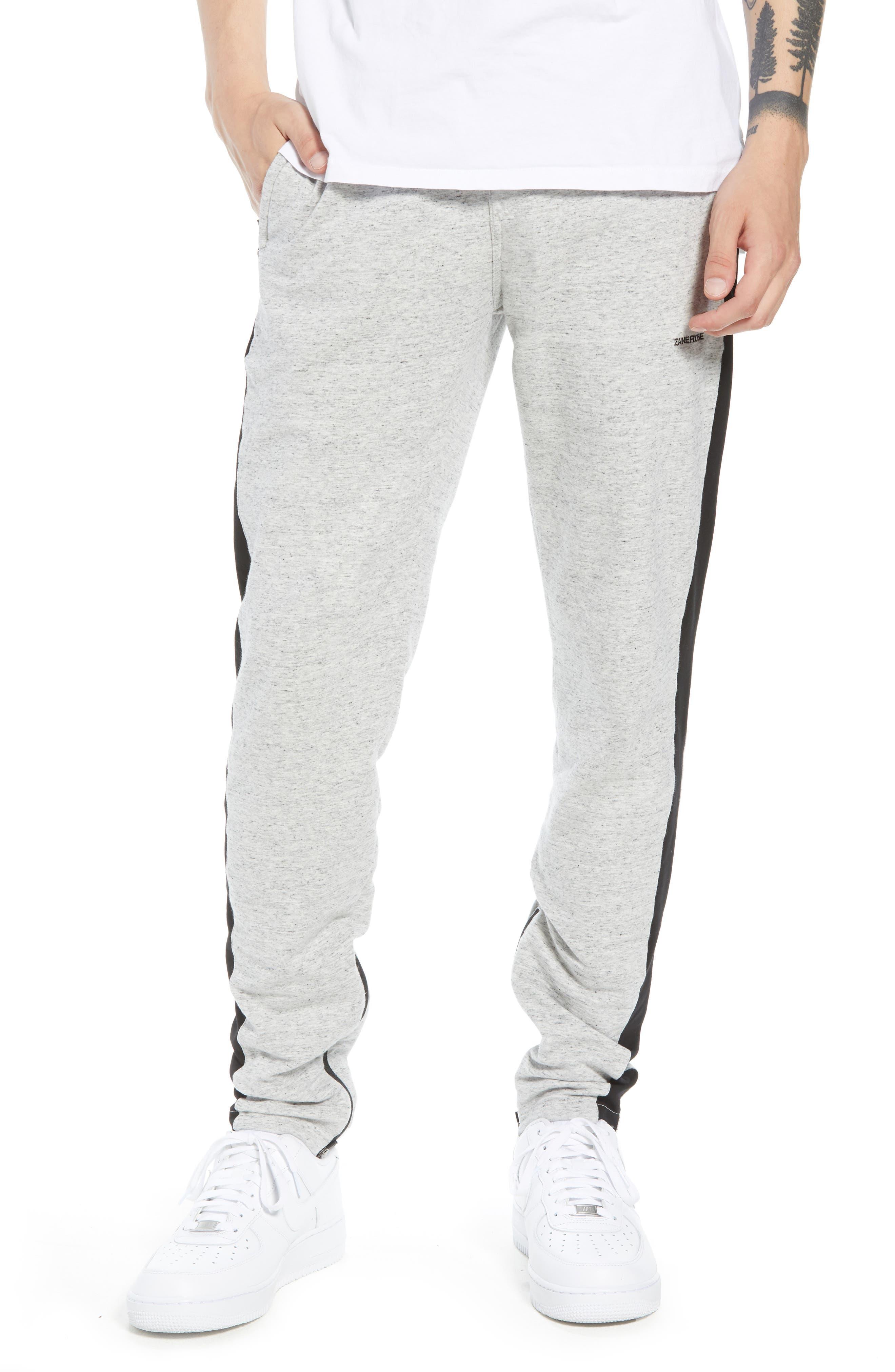 Jumpshot Slim Track Pants,                         Main,                         color, Storm Marle/ Black