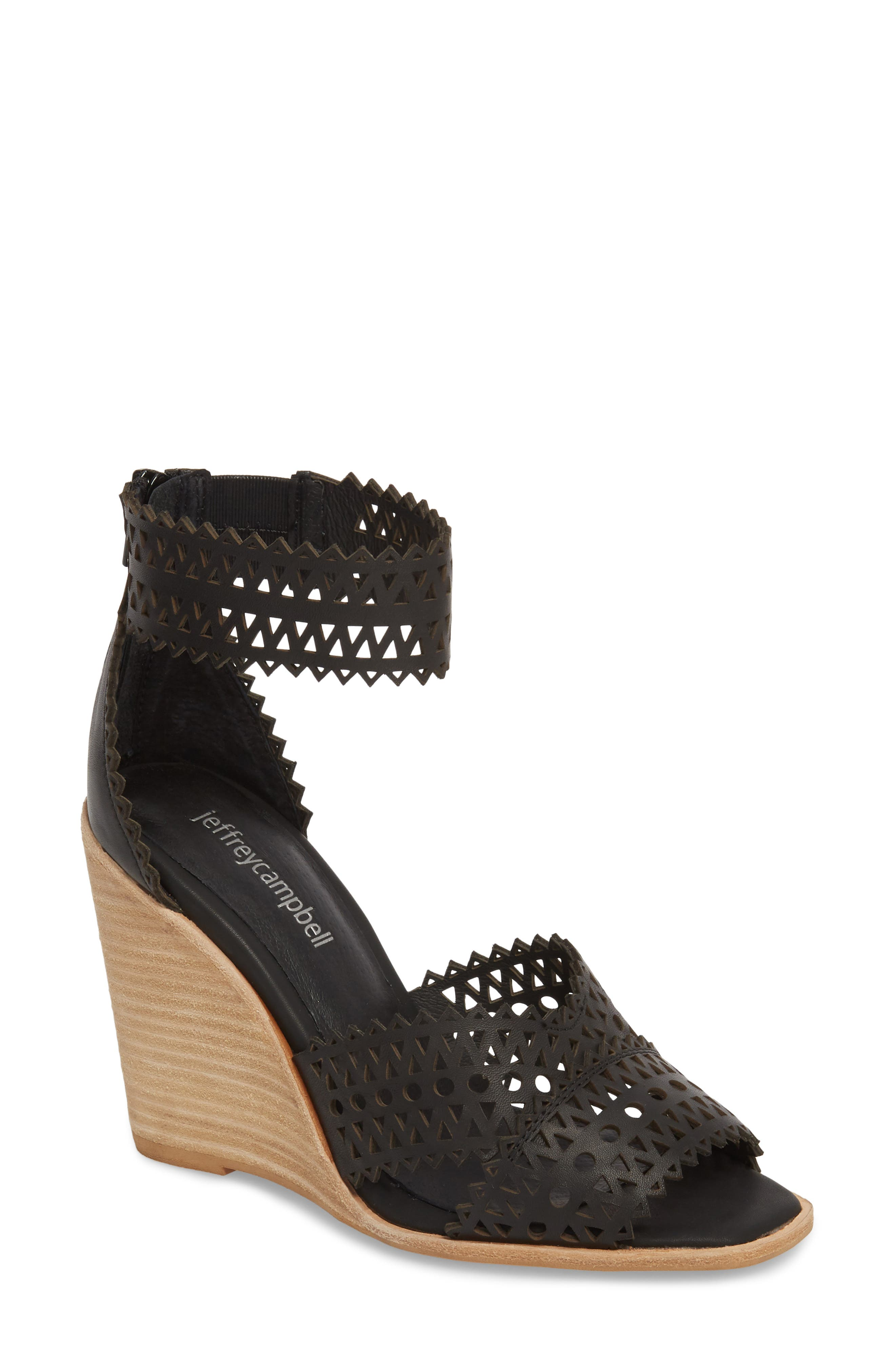 BESANTE PERFORATED WEDGE SANDAL