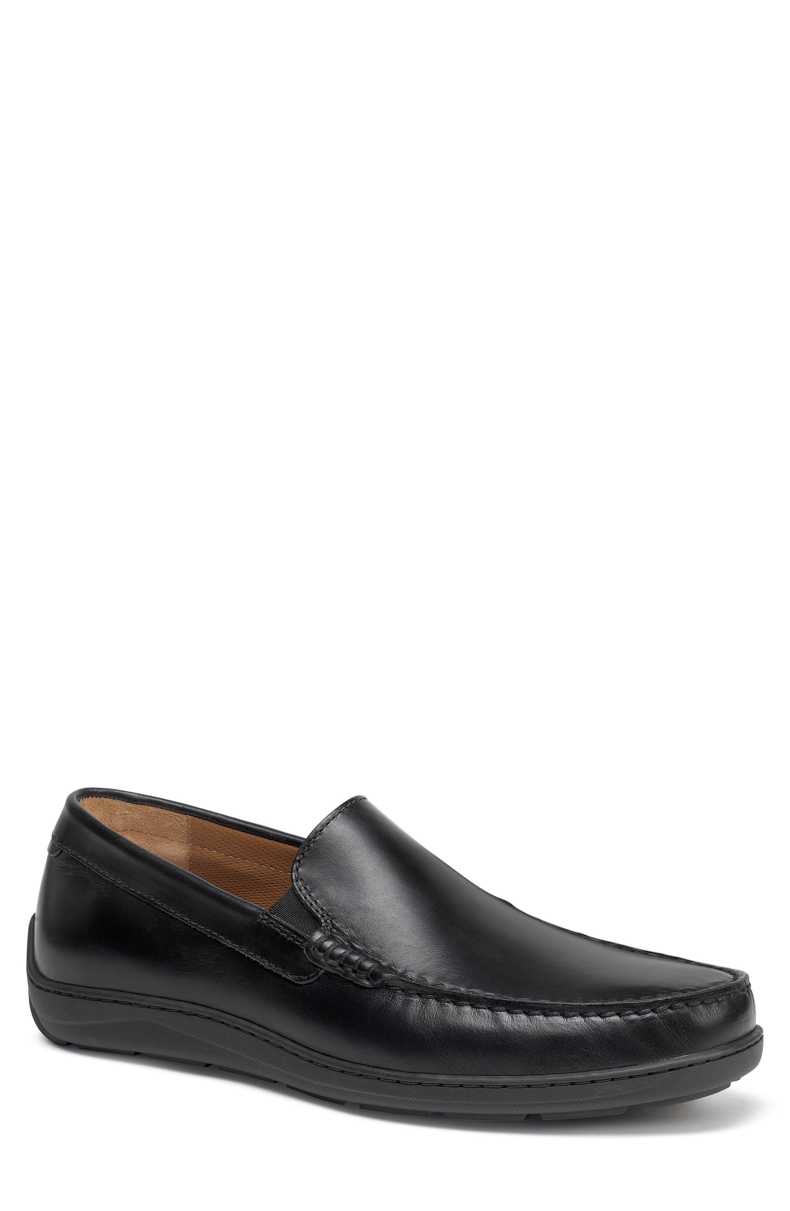 Sherwood Slip-On,                             Main thumbnail 1, color,                             Black Leather
