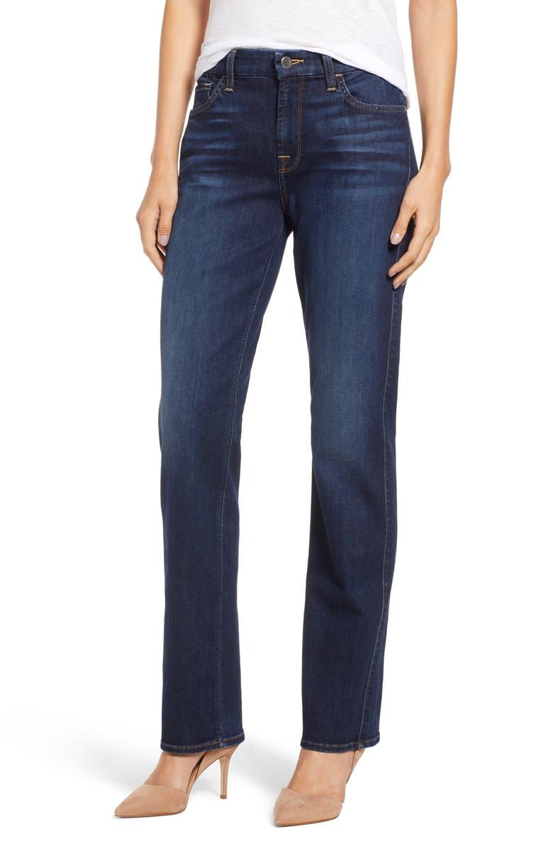 Stretch Slim Straight Leg Jeans