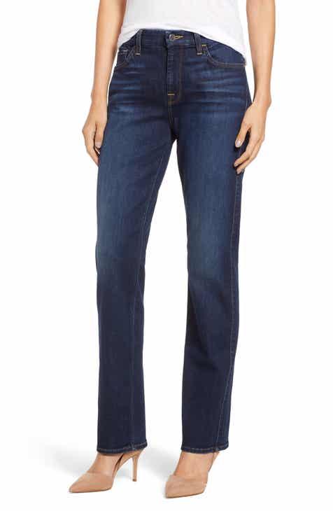 3f2883673416f Jen7 Stretch Slim Straight Leg Jeans (Pretty Dark Hudson)