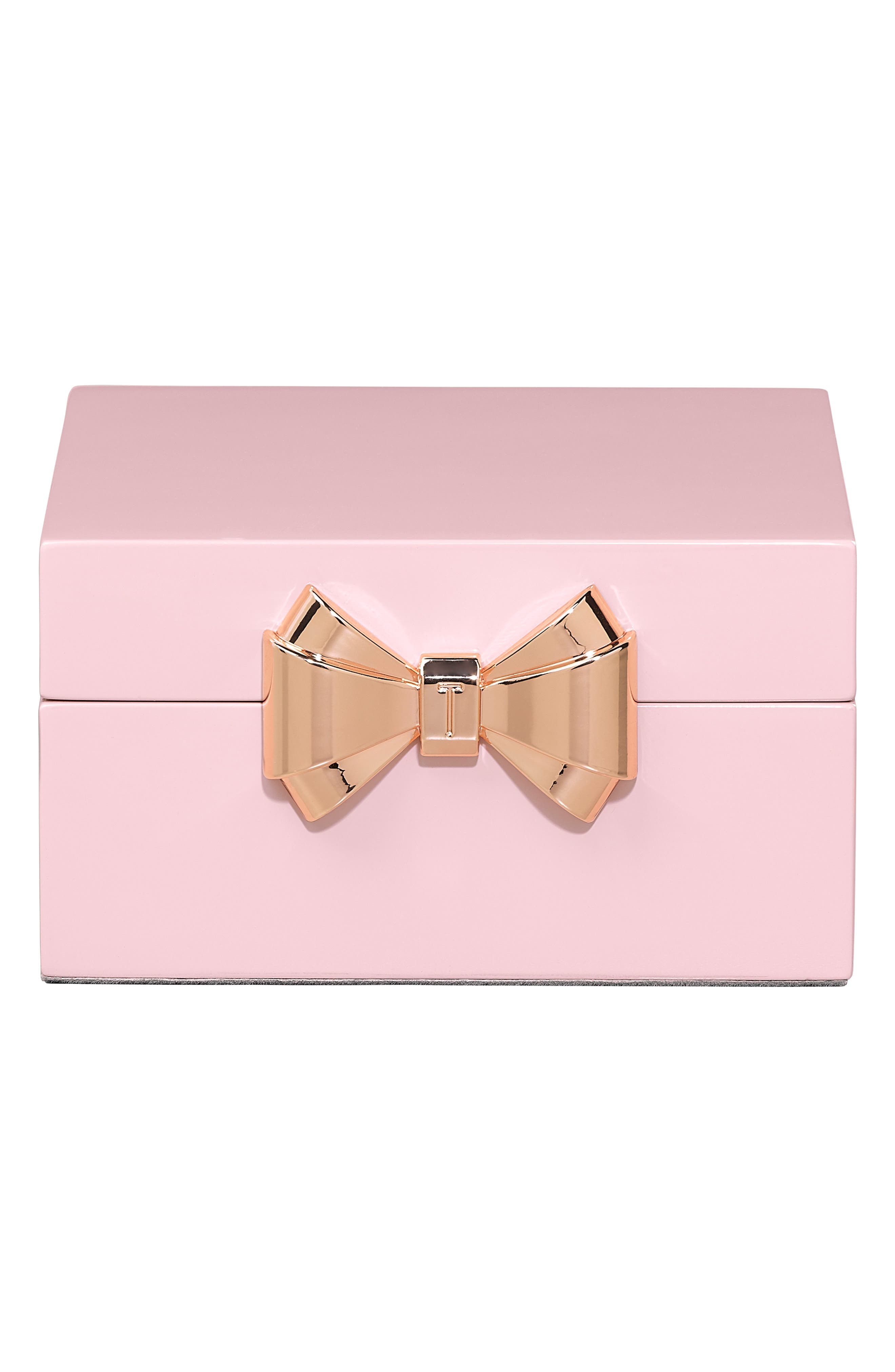 Square Jewelry Box,                             Main thumbnail 1, color,                             Pink