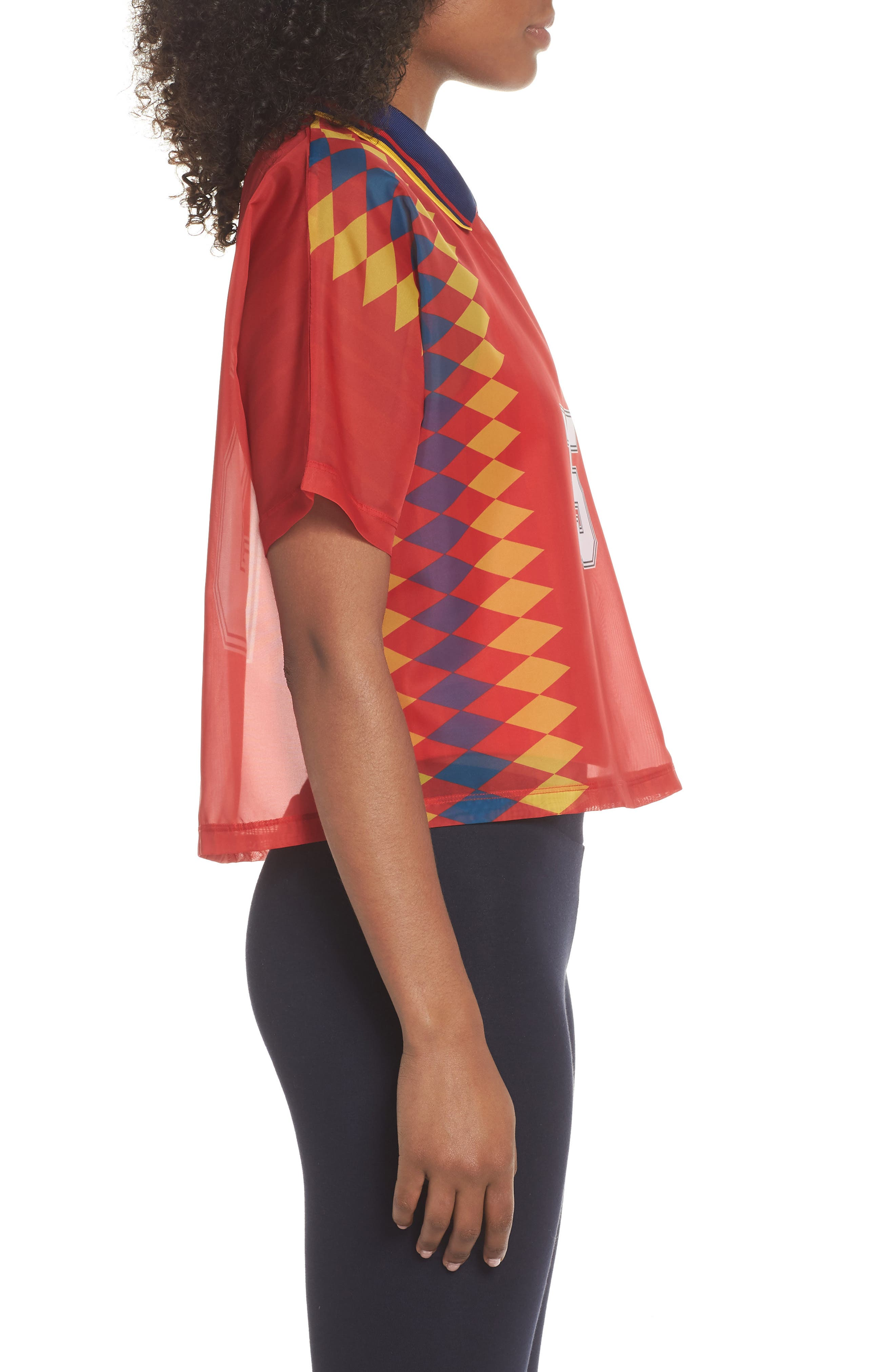 Originals Soccer Jersey Layer Tee,                             Alternate thumbnail 3, color,                             Multicolor Red