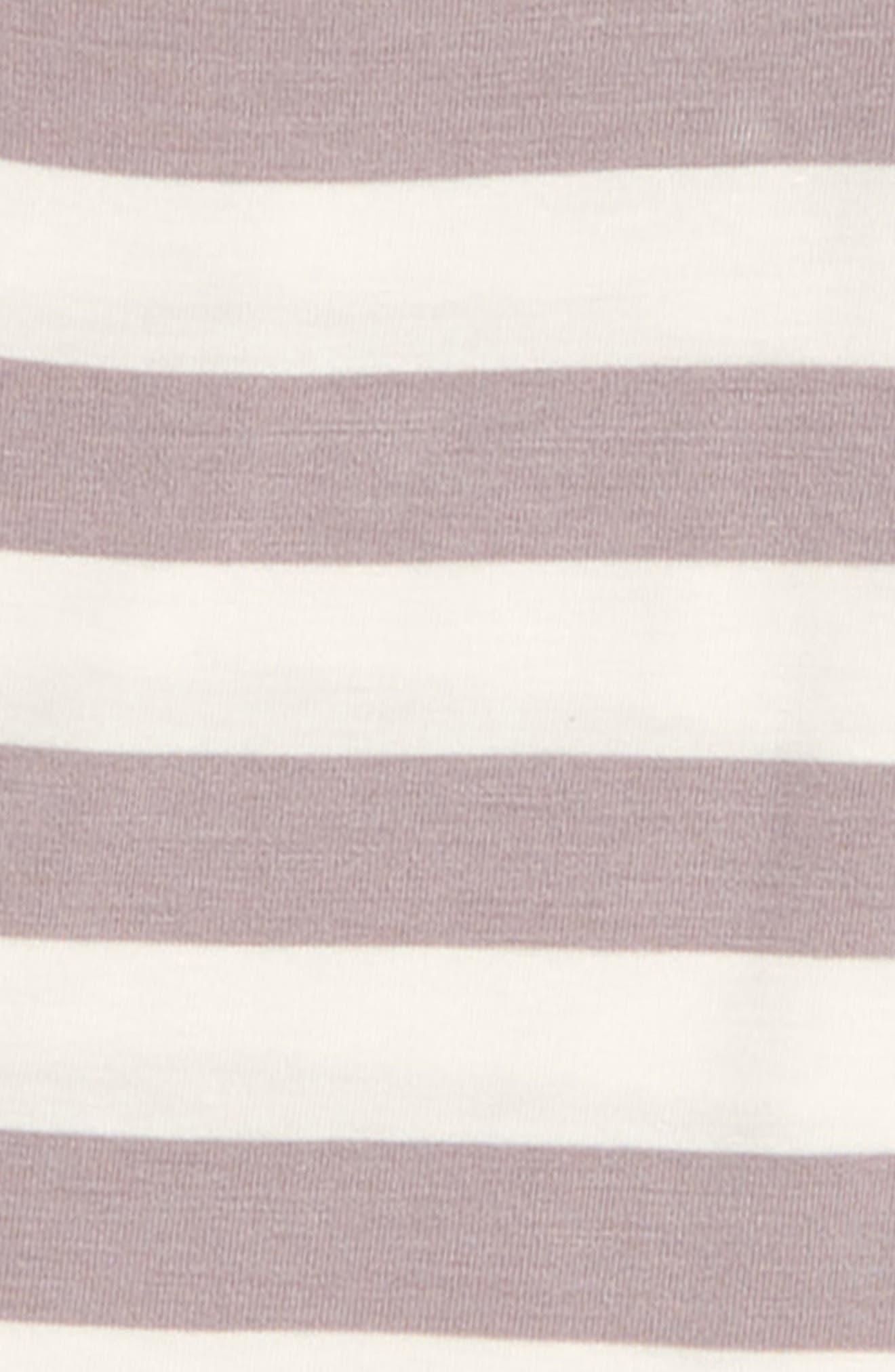 Feather Contrast Stripe Three-Piece Hat, Bodysuit & Pants Set,                             Alternate thumbnail 2, color,                             Feather/ Stripe