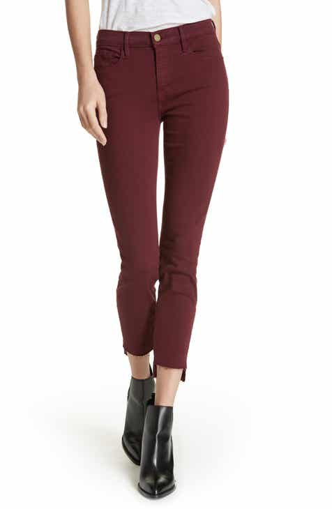6195bcd2237a FRAME Le Skinny de Jeanne Raw Stagger Hem Jeans