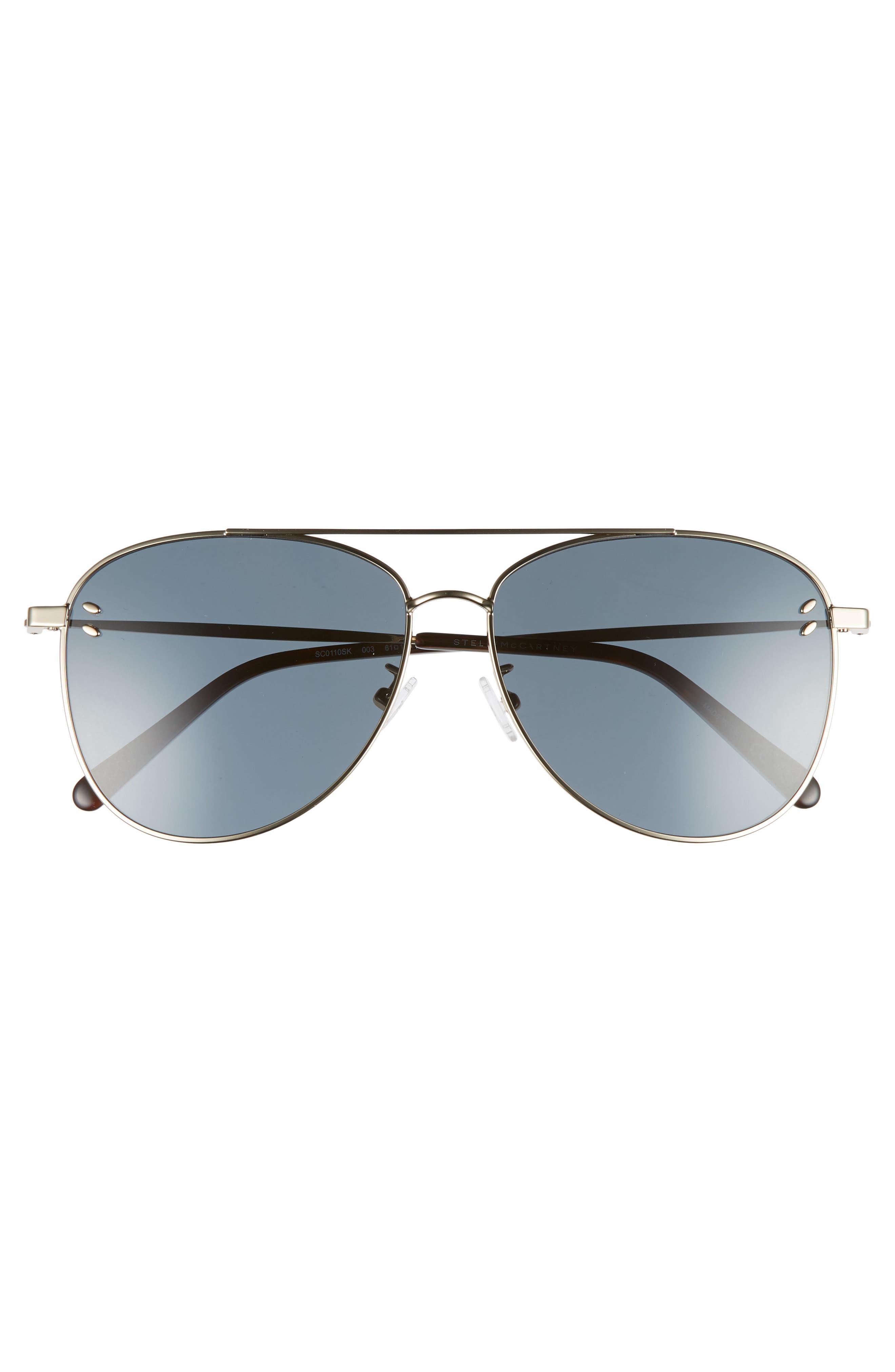 61mm Aviator Sunglasses,                             Alternate thumbnail 3, color,                             Gold