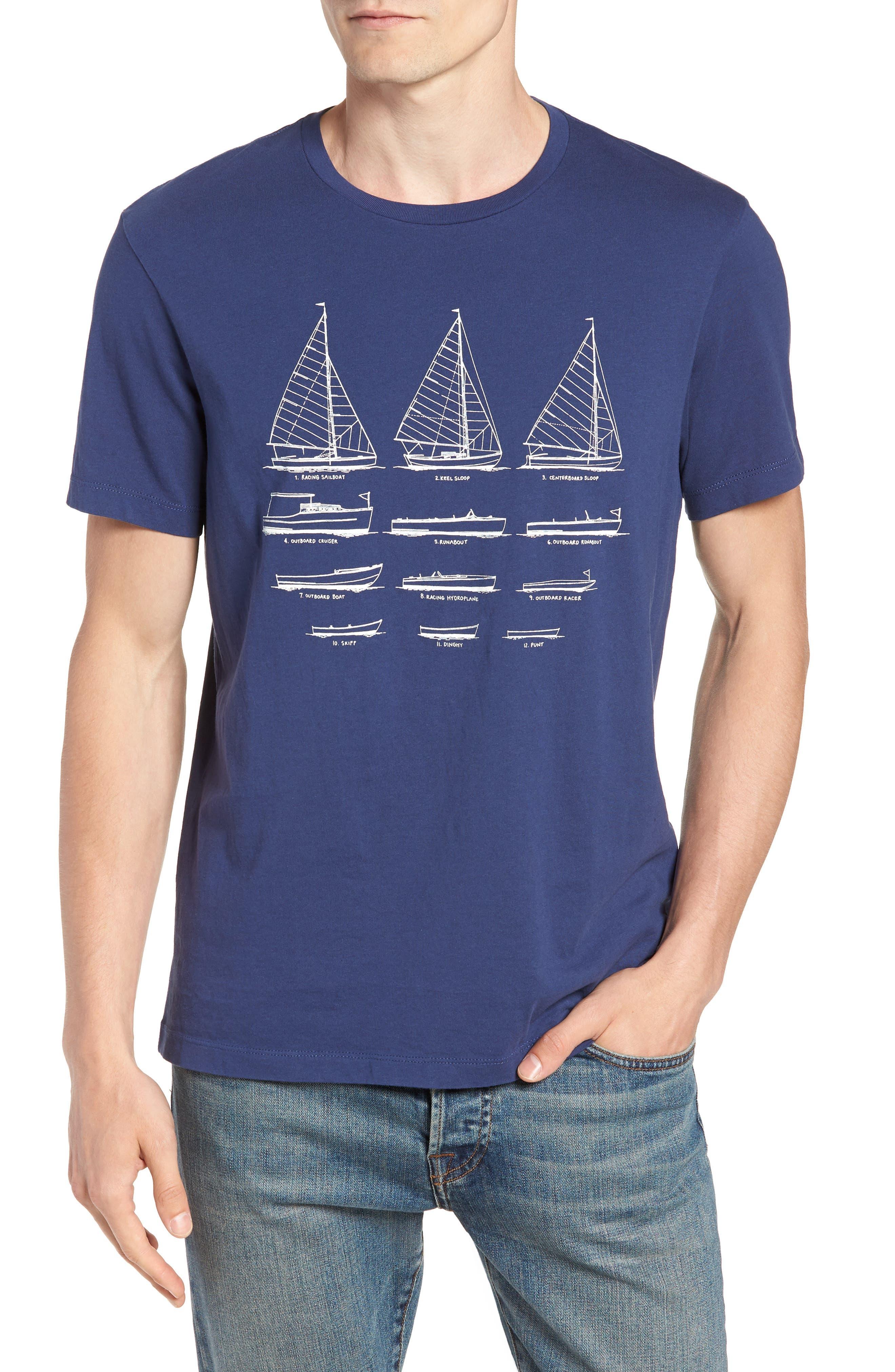 Mercantile Sailboat Graphic T-Shirt,                             Main thumbnail 1, color,                             Boat Sketch