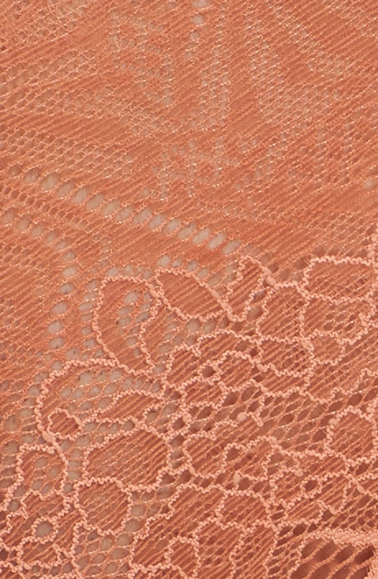 Lace Tanga,                             Alternate thumbnail 8, color,                             Afterglow Red