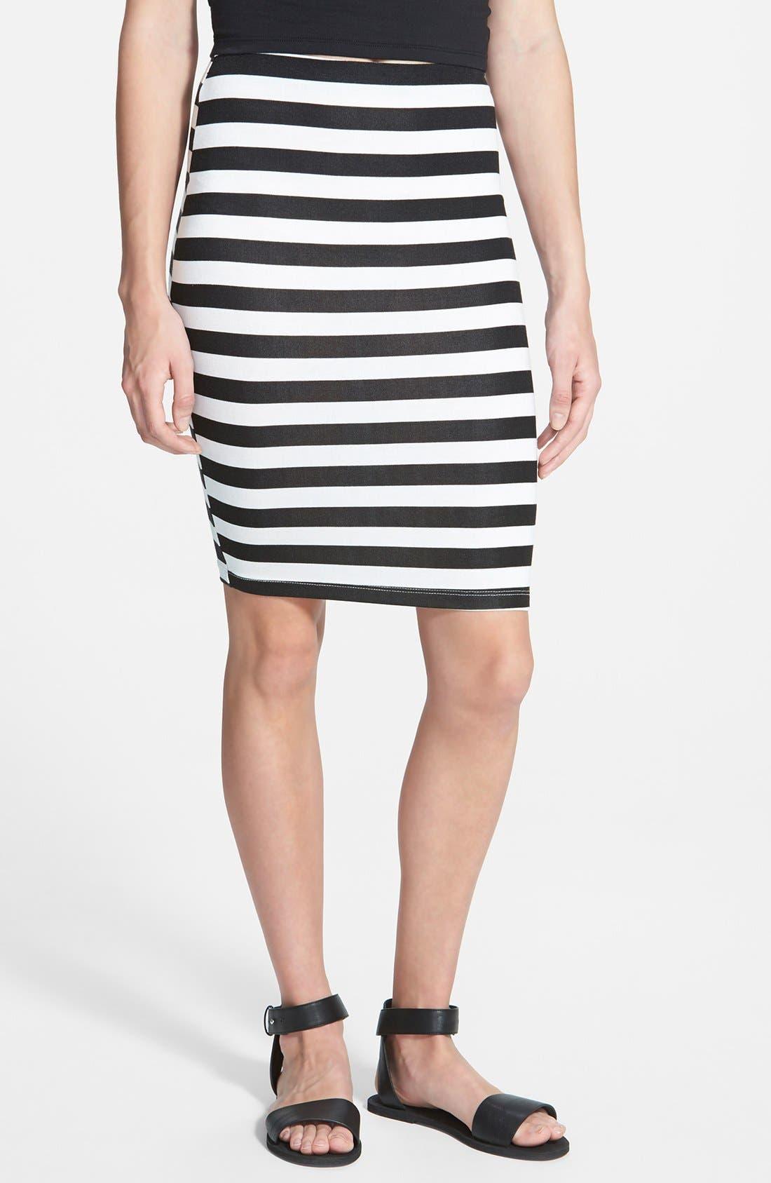 Alternate Image 1 Selected - Lush Stripe Bandage Skirt