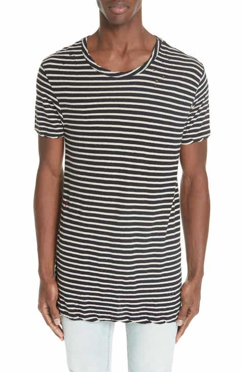 a500d63ca5448d Ksubi Sinister Distressed Stripe T-Shirt