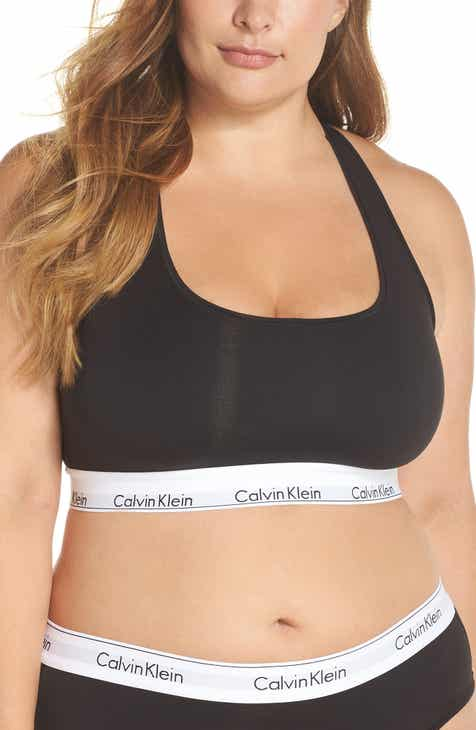 a67d5b49518f6 Calvin Klein ModernCotton Blend Racerback Bralette (Plus Size)