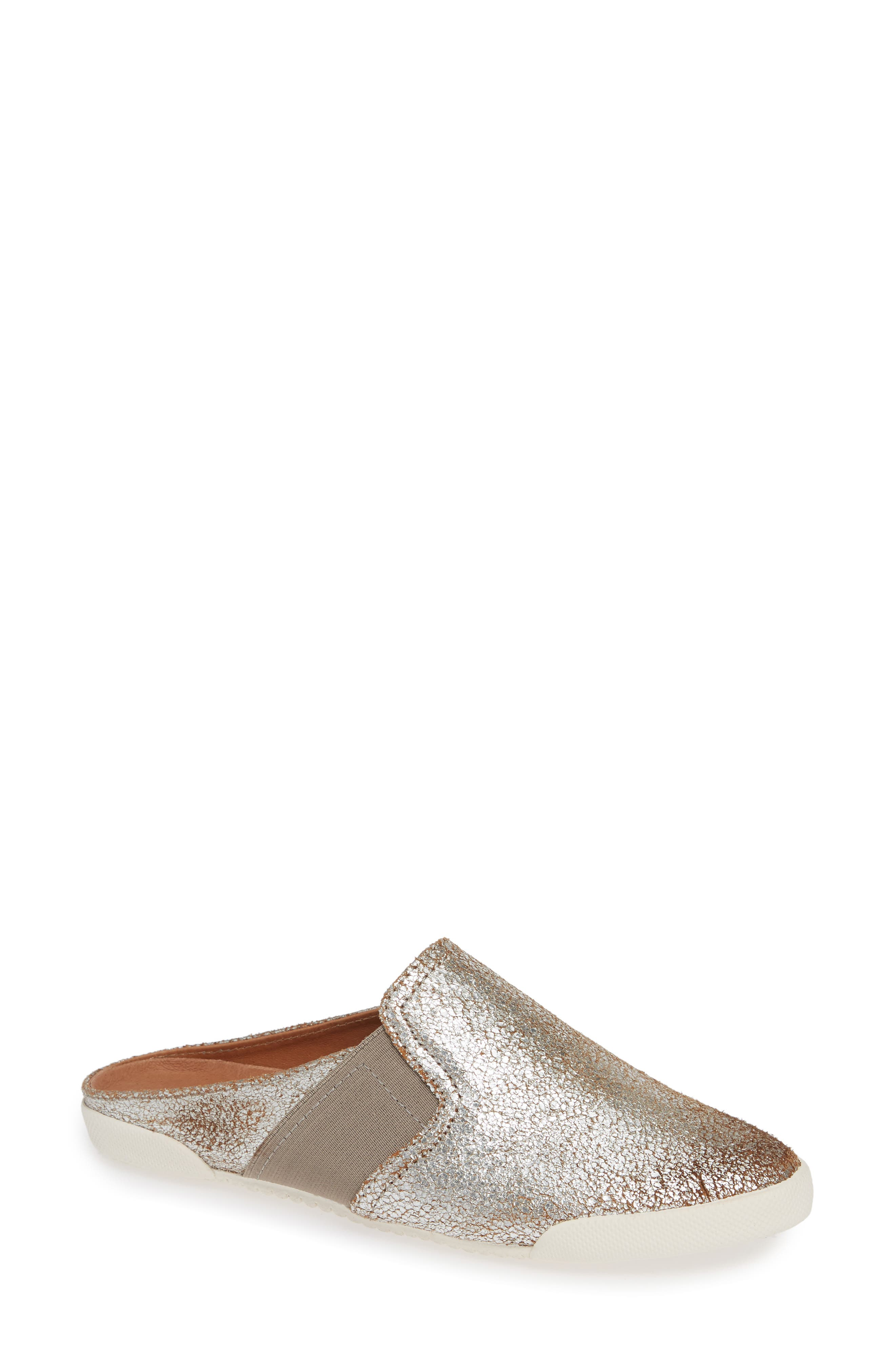 Melanie Mule,                         Main,                         color, Silver Leather