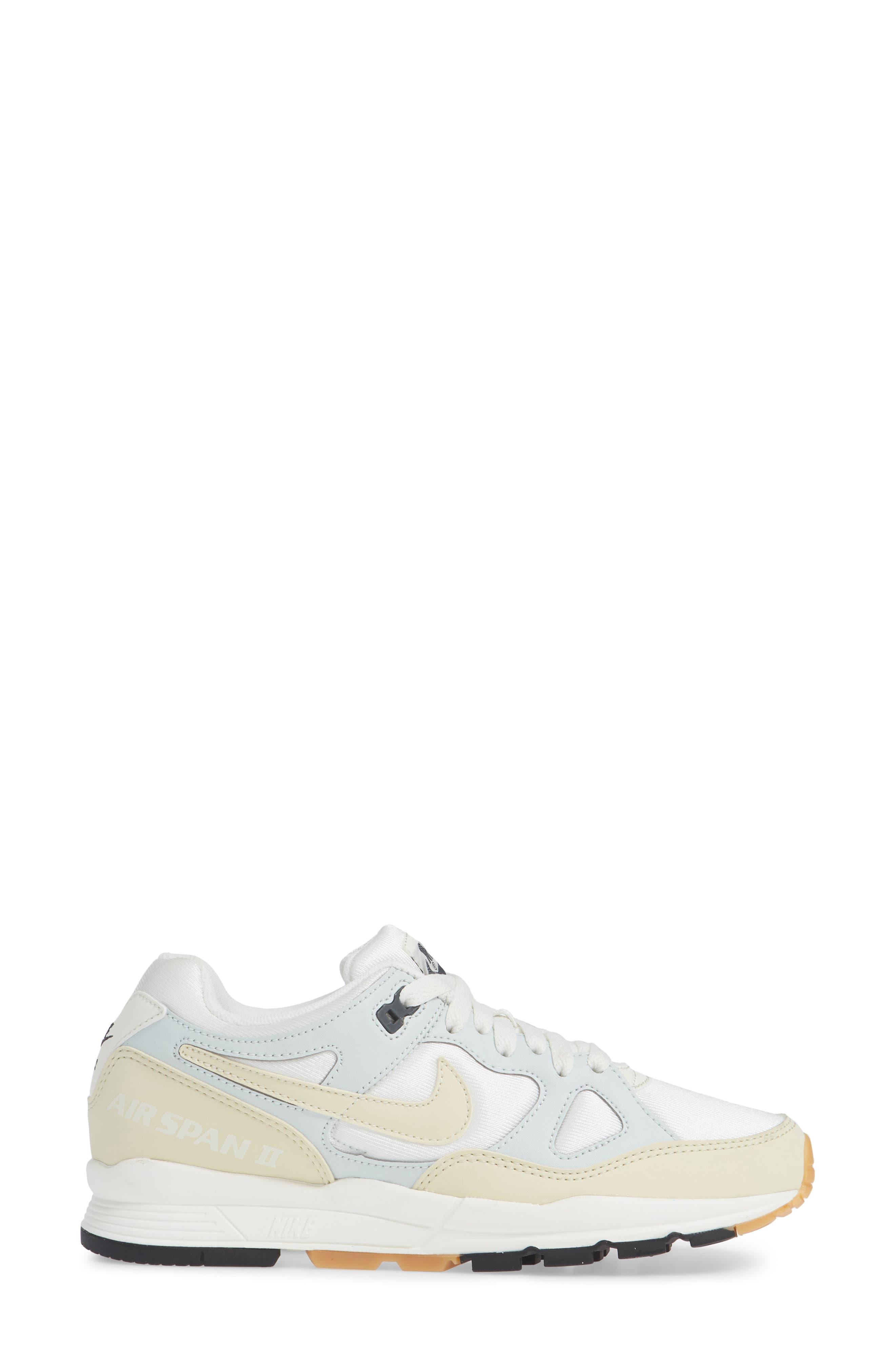 Air Span II Sneaker,                             Alternate thumbnail 3, color,                             Sail/ Fossil-Barely Grey-Black
