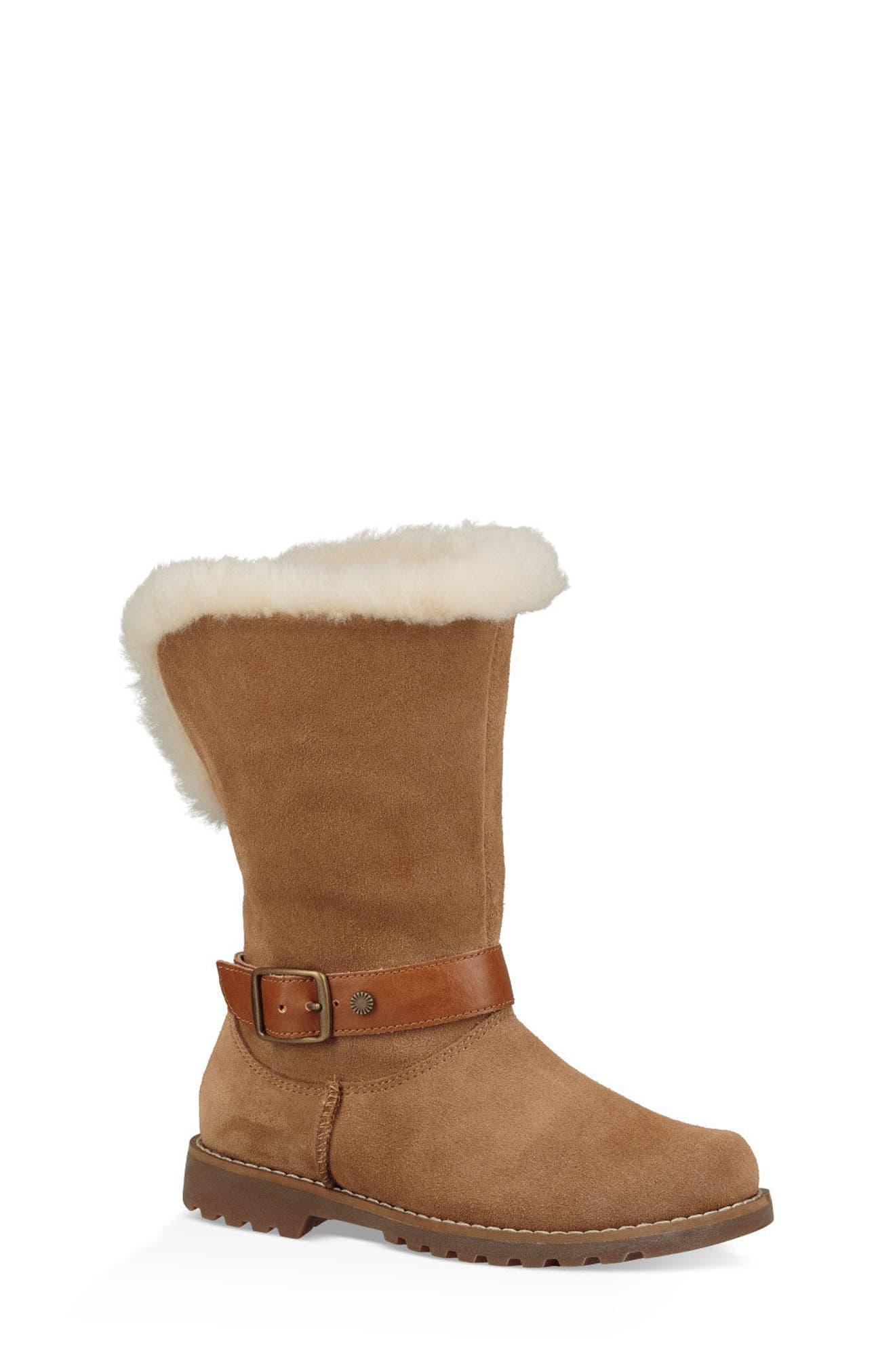 UGG® Nessa Genuine Shearling Boot (Walker, Toddler, Little Kid & Big Kid)