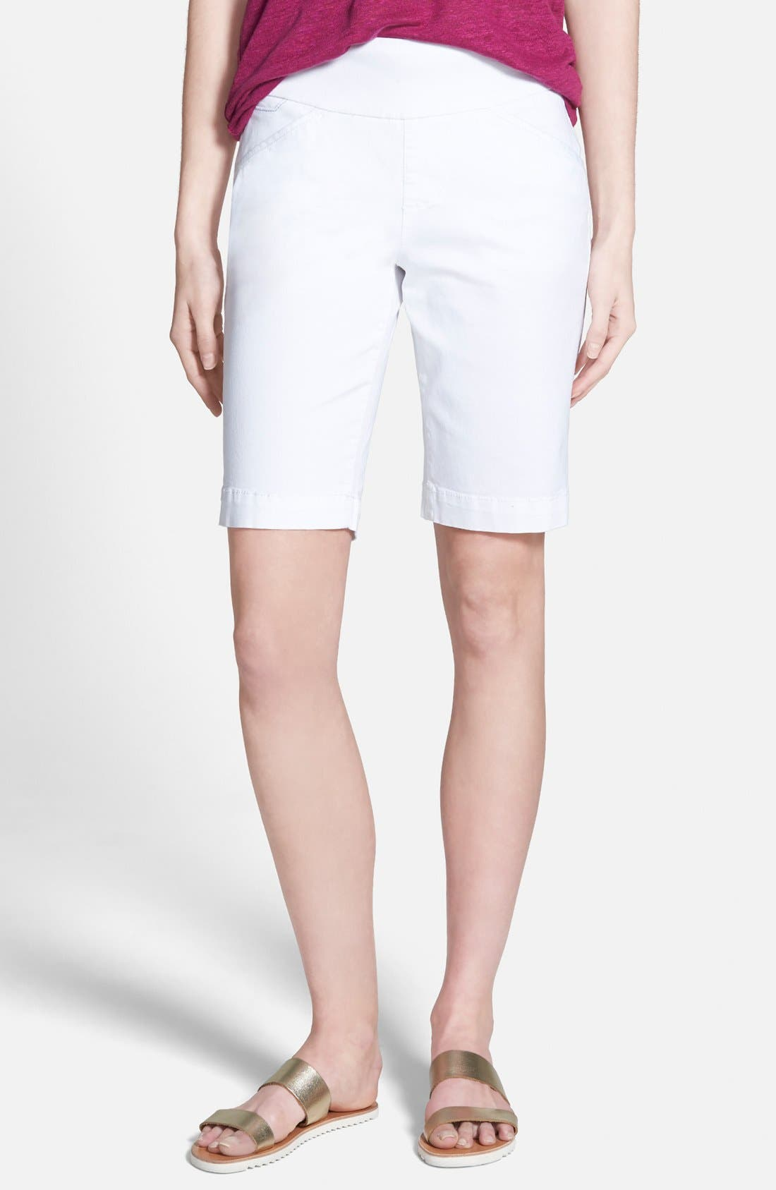 Alternate Image 1 Selected - Jag Jeans 'Ainsley' Slim Bermuda Shorts (Regular & Petite)