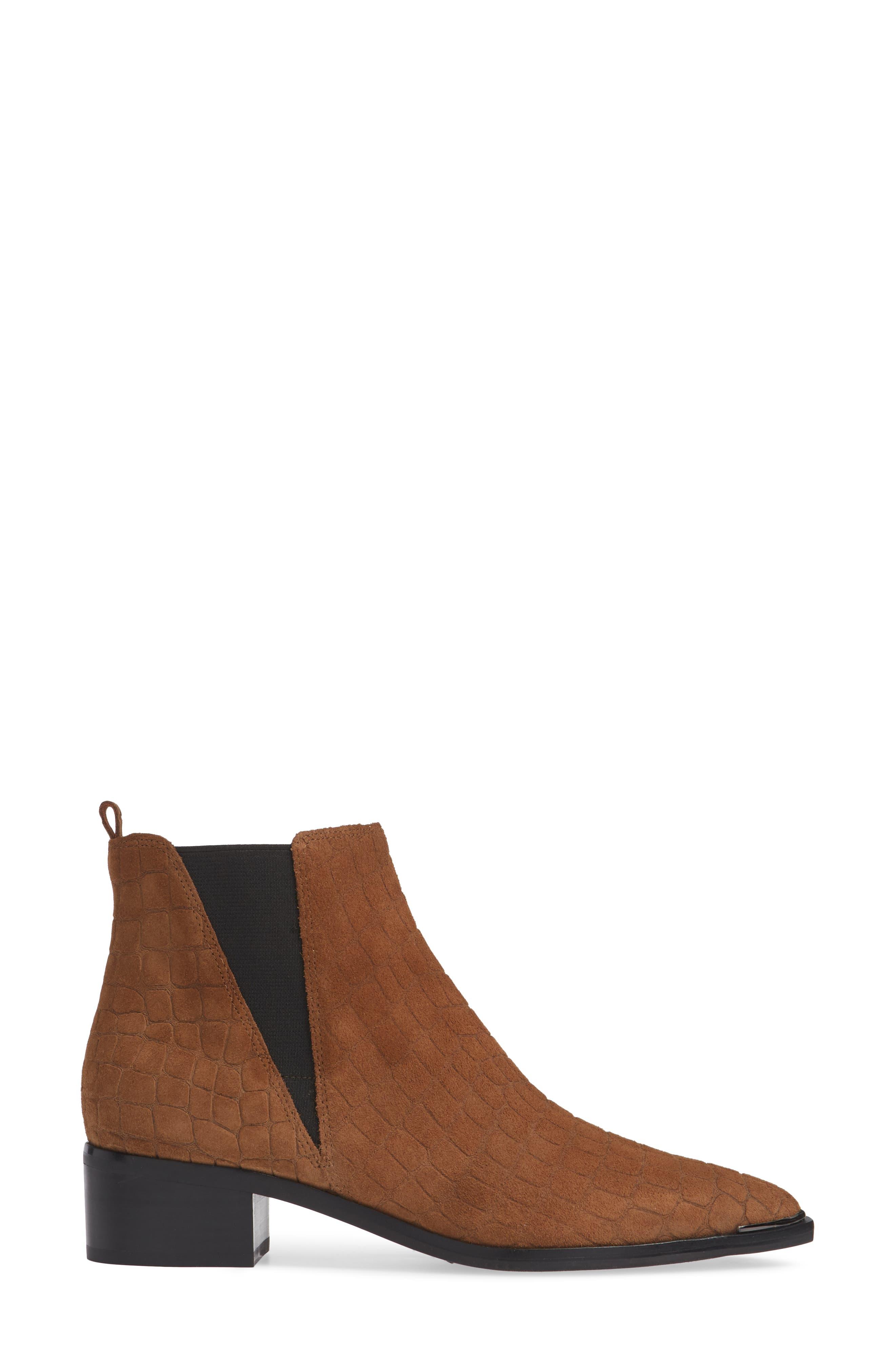 'Yale' Chelsea Boot,                             Alternate thumbnail 5, color,                             Cognac Suede