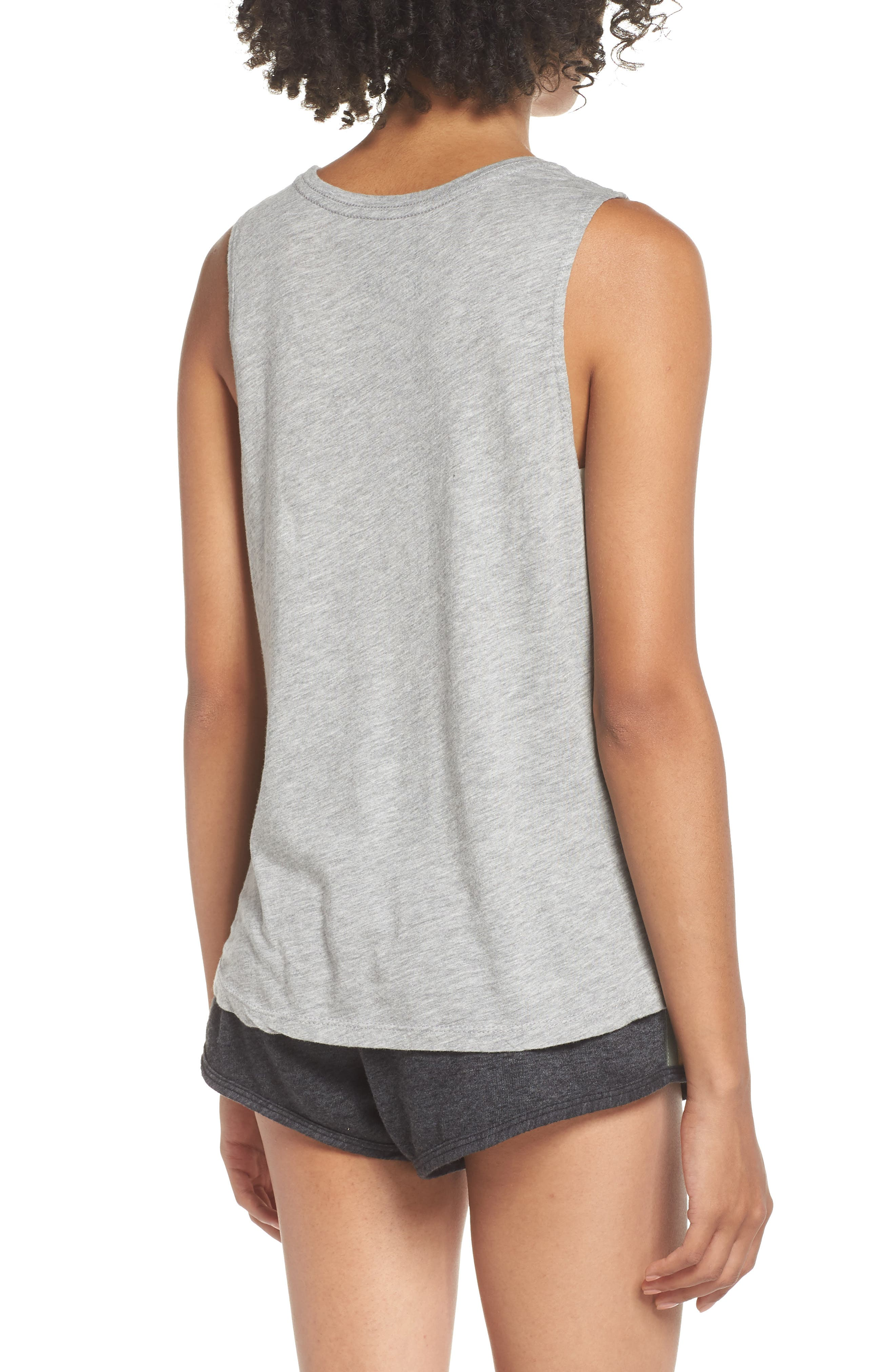 Proactive Muscle Tank Top,                             Alternate thumbnail 2, color,                             Hthr Grey