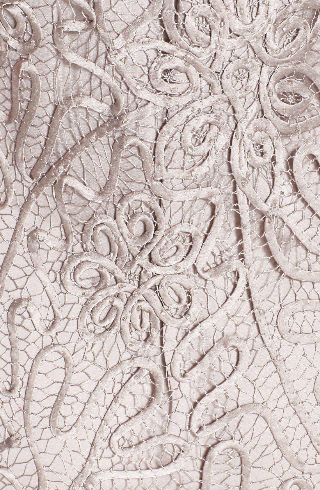 Alternate Image 4  - Soulmates Beaded Crochet Silk Dress & Bolero