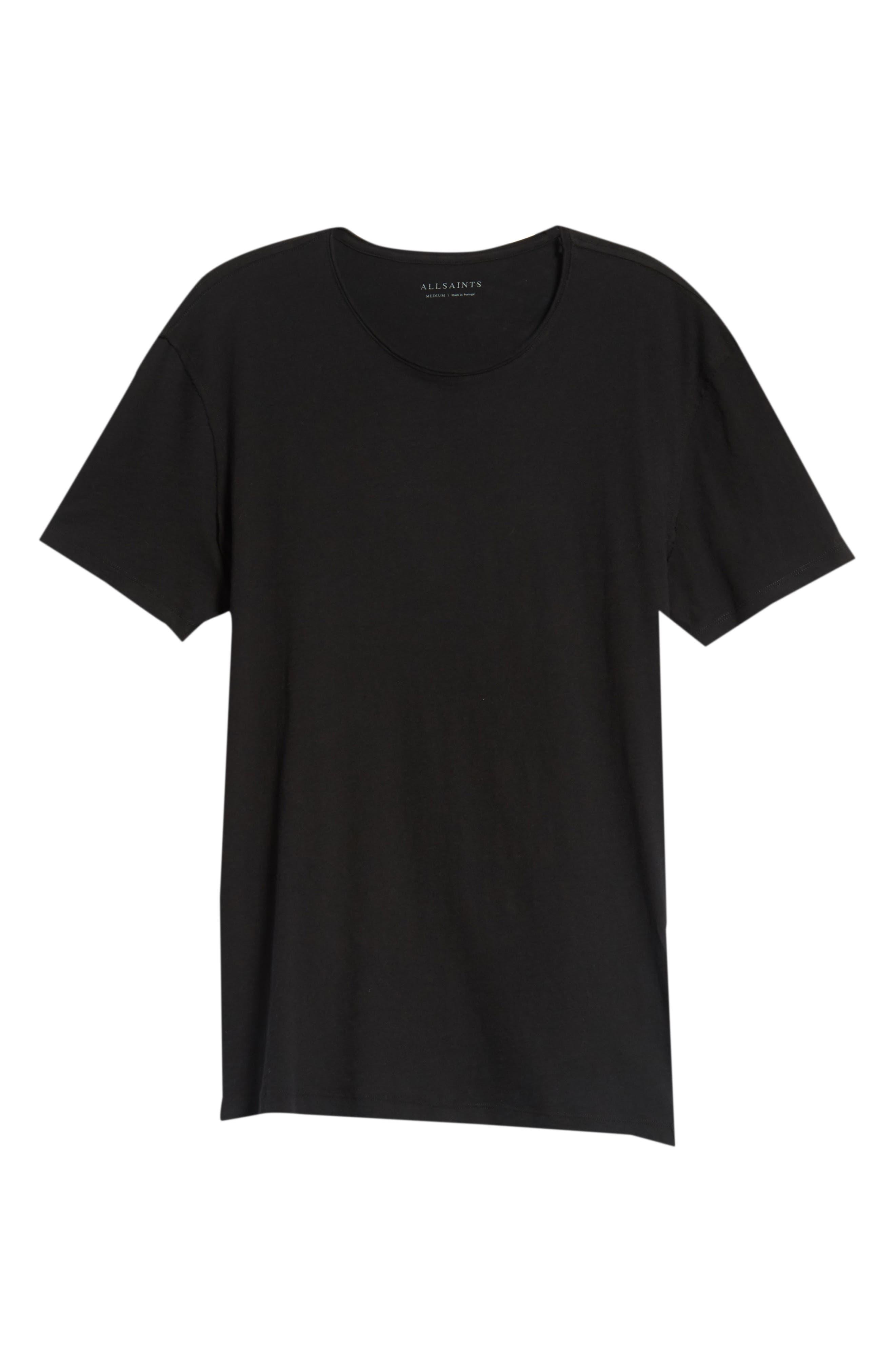Slim Fit Crewneck T-Shirt,                             Alternate thumbnail 4, color,                             Jet Black