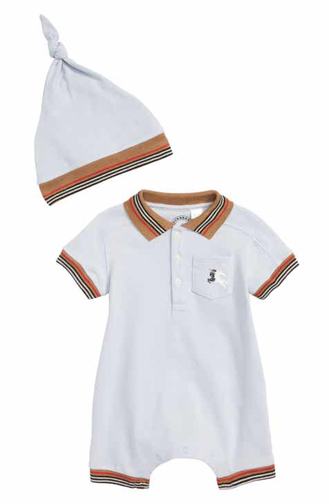 04d72328b2f Burberry Kai Polo Romper   Hat Set (Baby Boys)