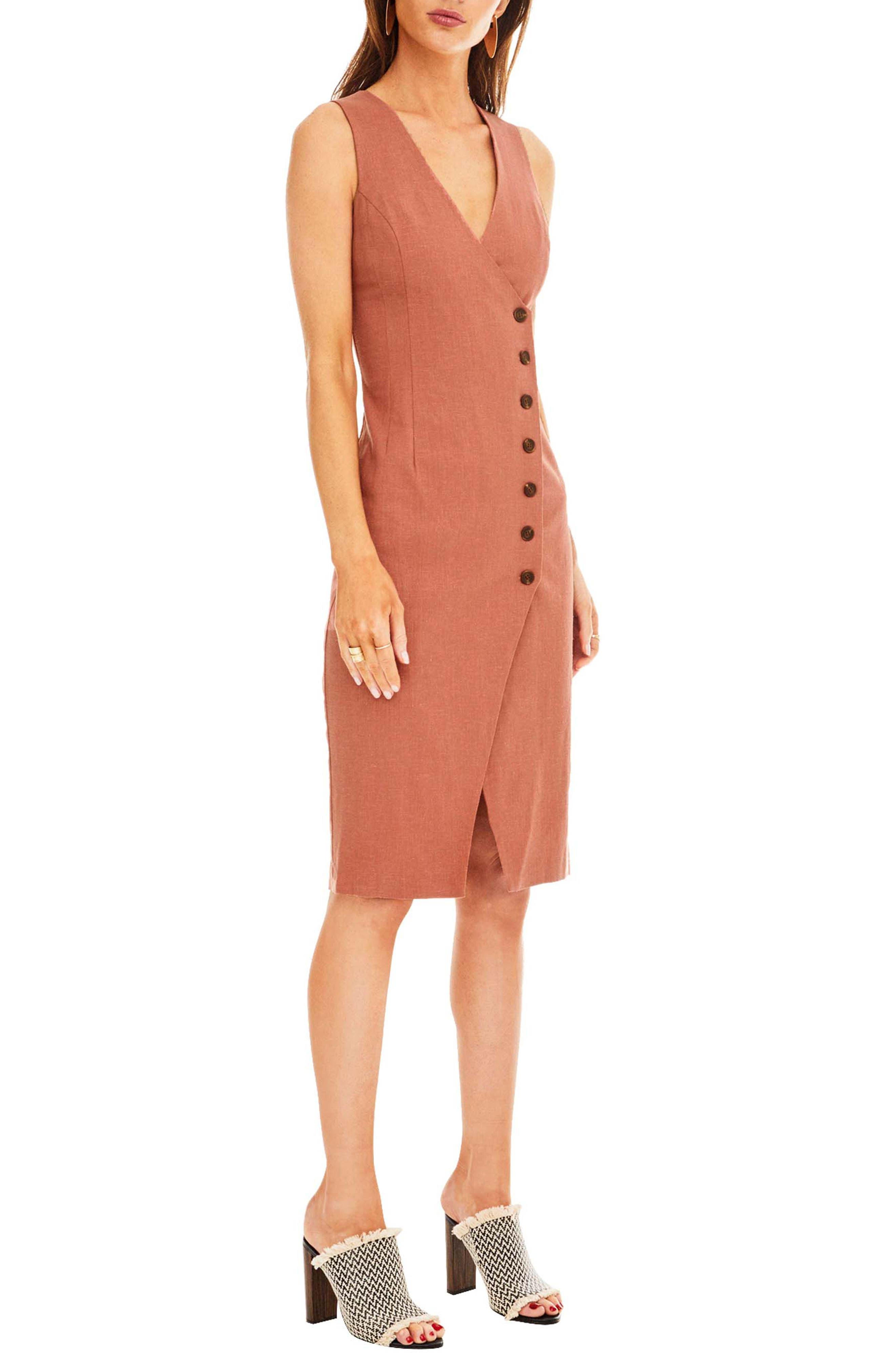 Demi Dress,                             Alternate thumbnail 3, color,                             Mauve