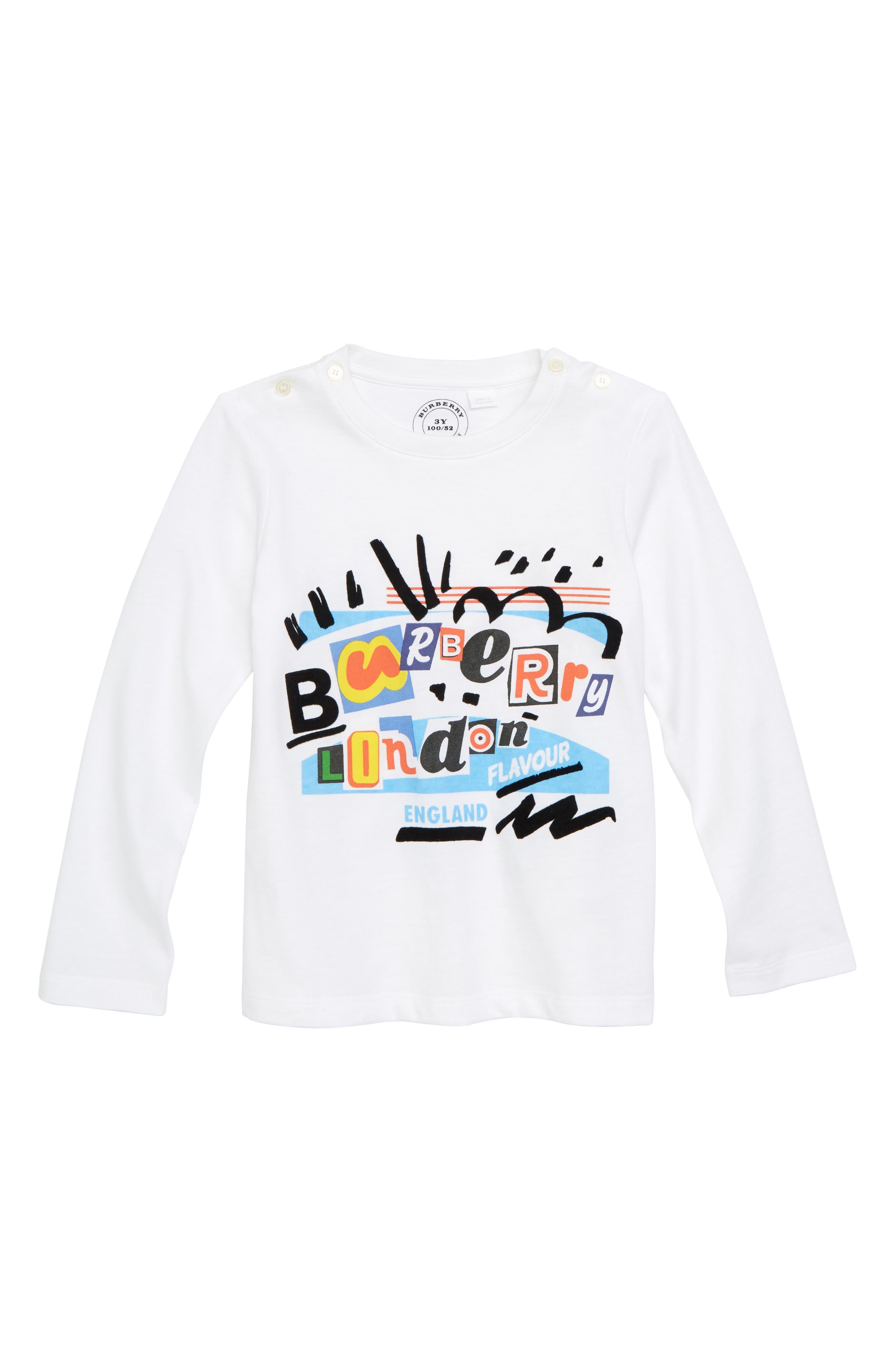Logo Graphic T-Shirt,                             Main thumbnail 1, color,                             White