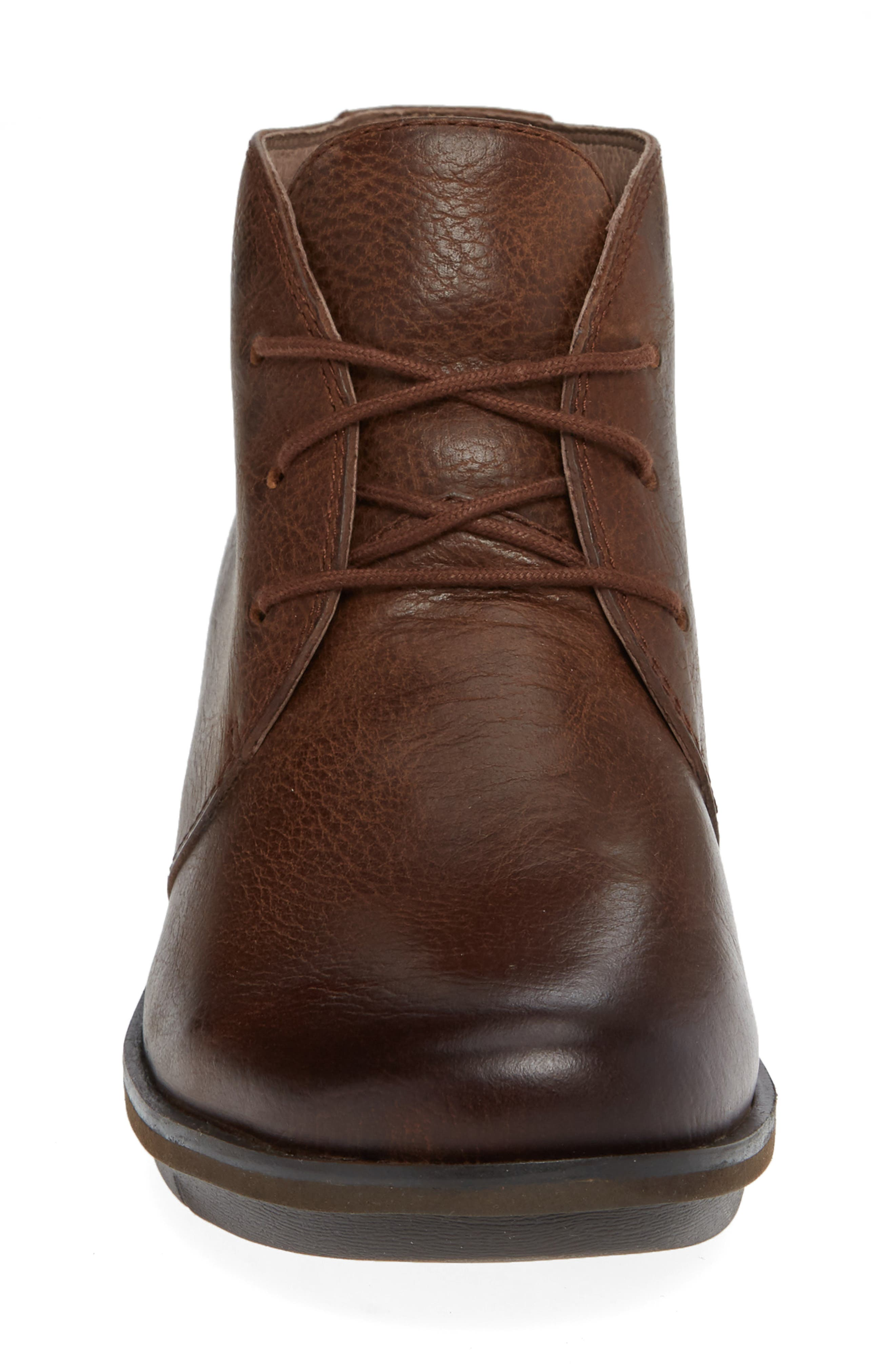 Joy Bootie,                             Alternate thumbnail 4, color,                             Brown Burnished Nubuck Leather