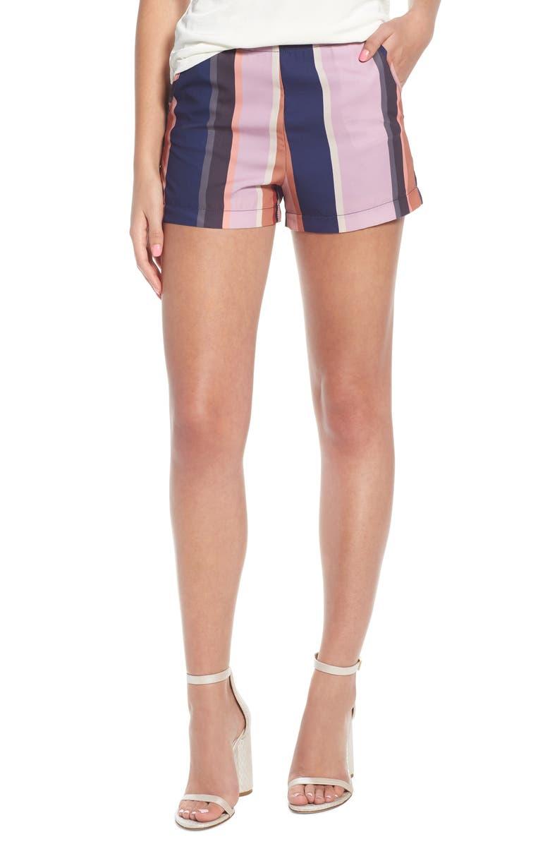 Stripe High Waist Shorts