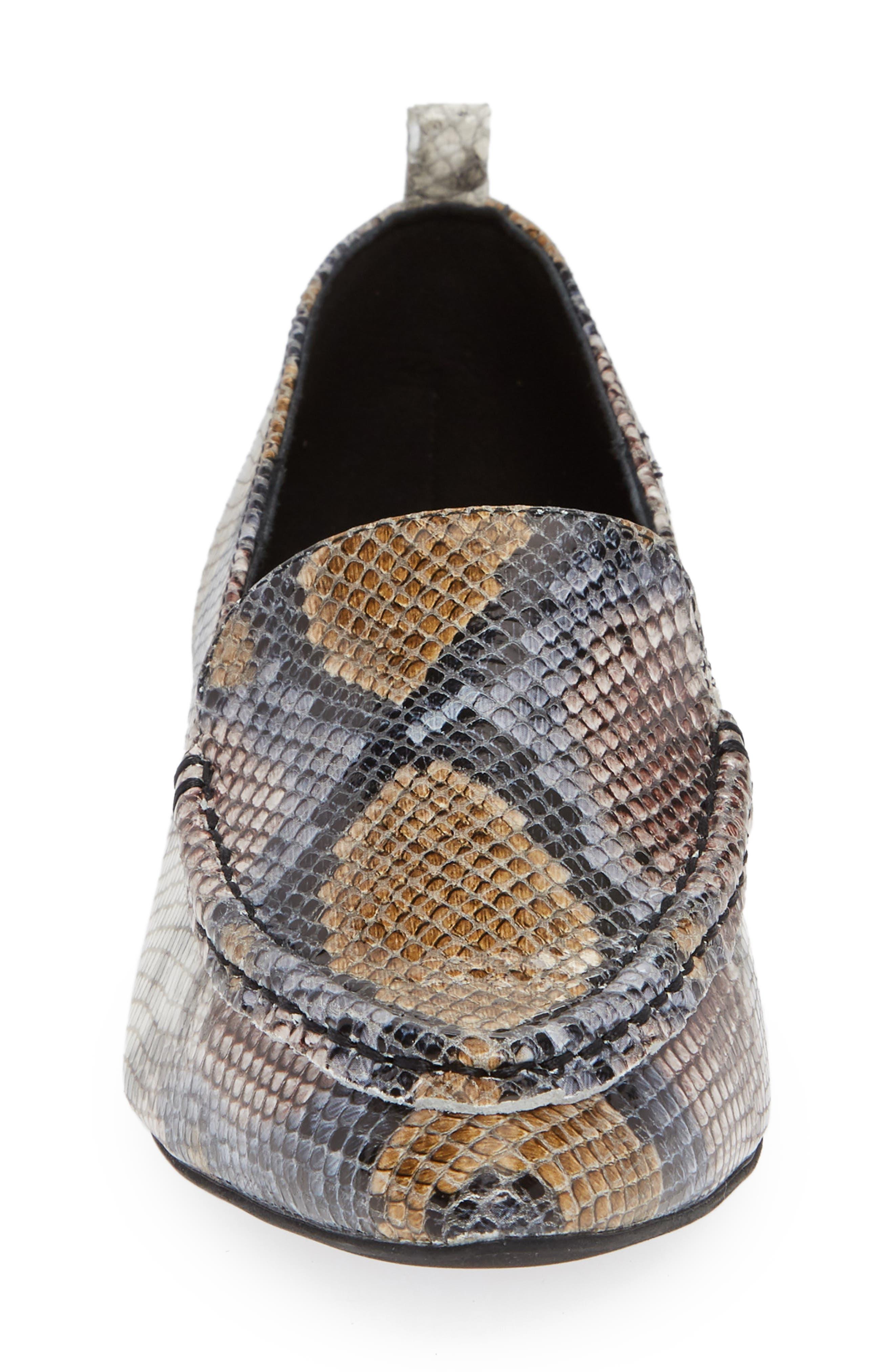 Barnett Studded Loafer,                             Alternate thumbnail 4, color,                             Multi Snake Silver