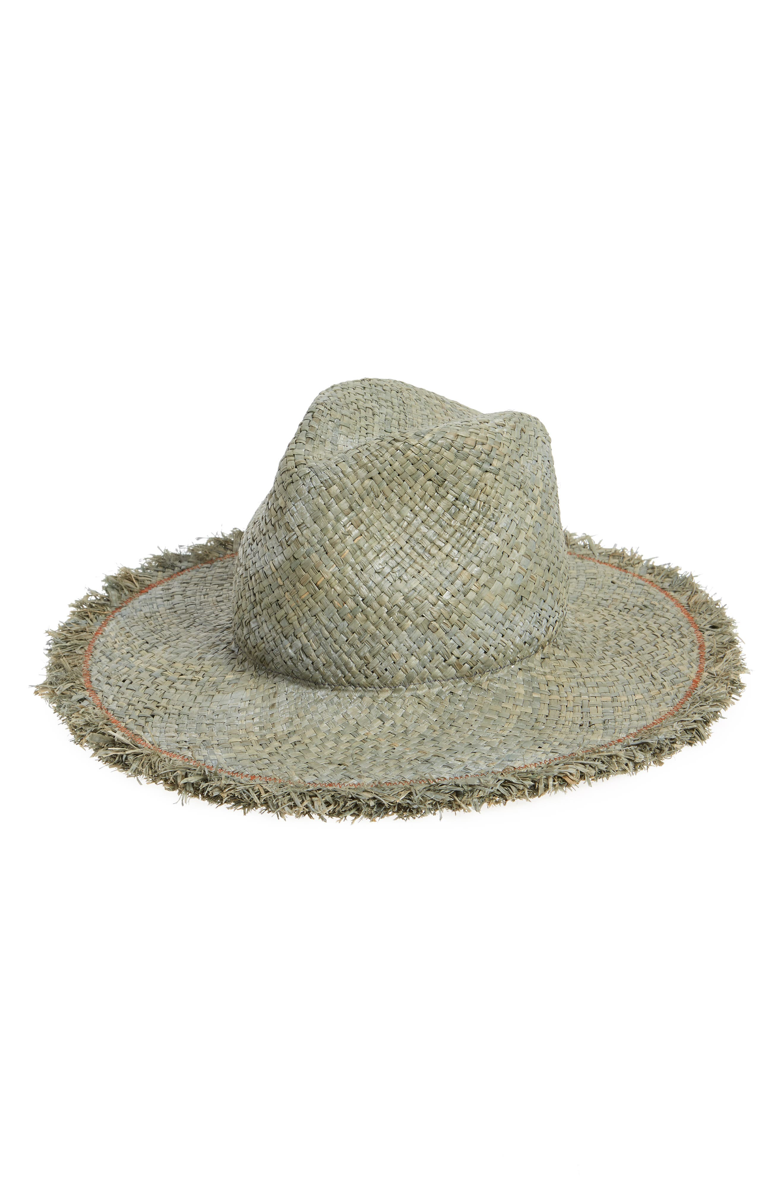 LOLA HATS Large Dad'S Raffia Hat - Green in Sage