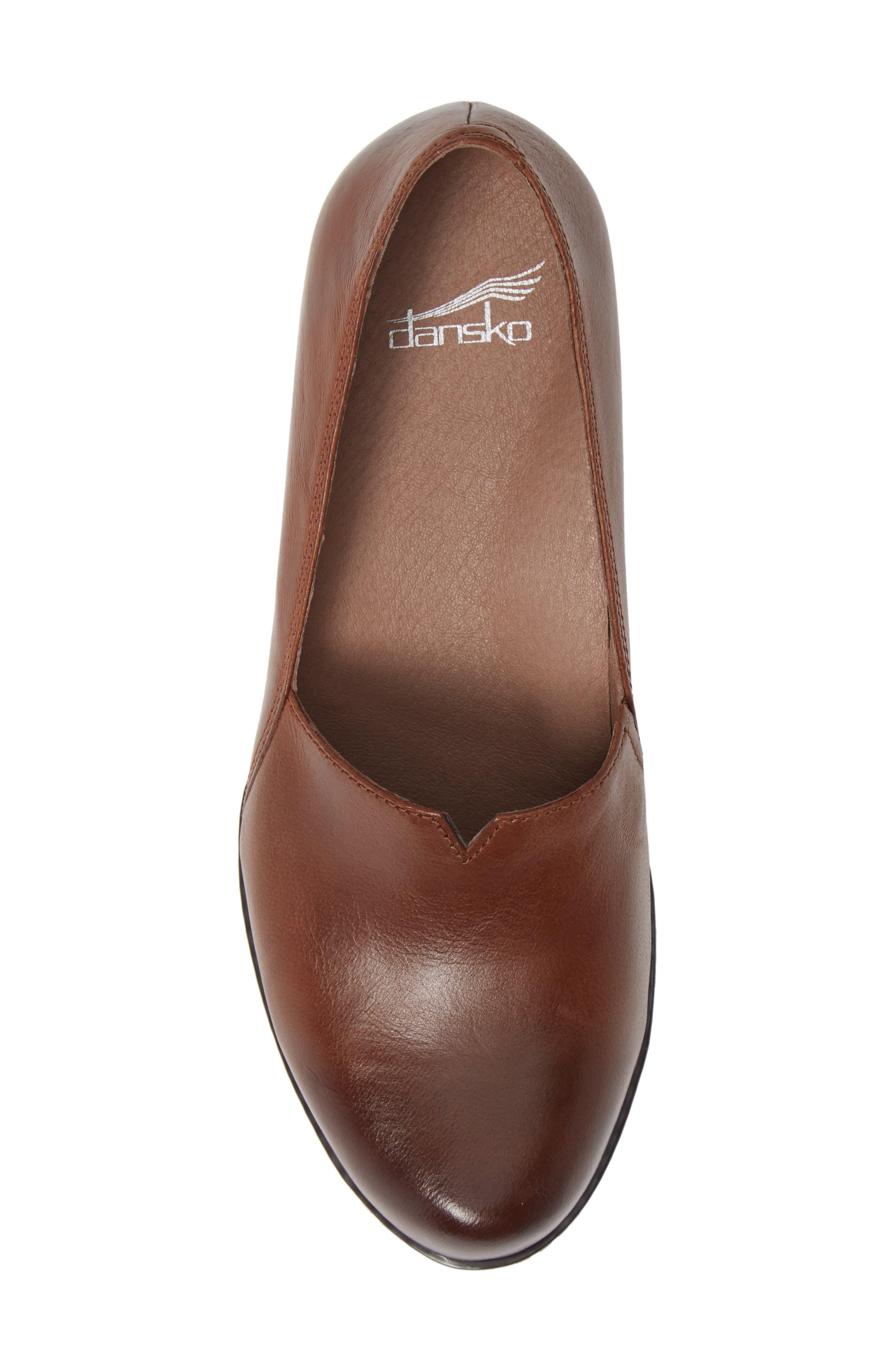 Liliana Concealed Wedge Slip-On,                             Alternate thumbnail 8, color,                             Chestnut Burnished Leather