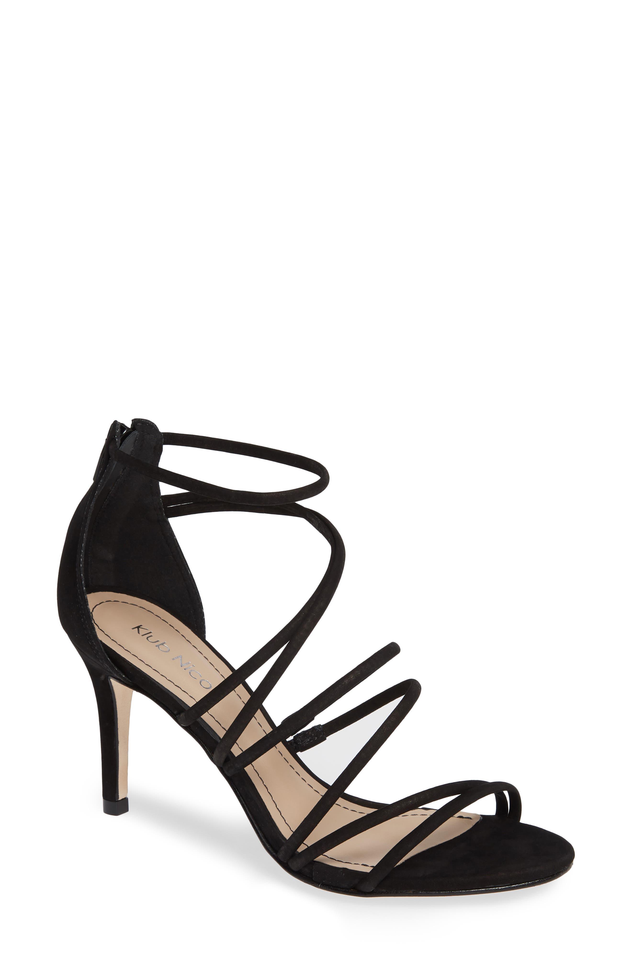 Ashton Sandal,                         Main,                         color, Black Leather