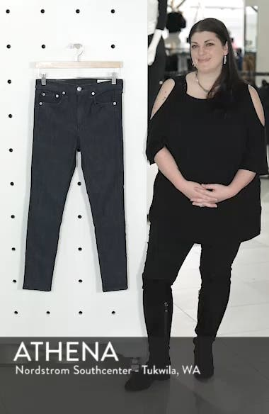 High Waist Skinny Jeans,                             Alternate thumbnail 8, color,
