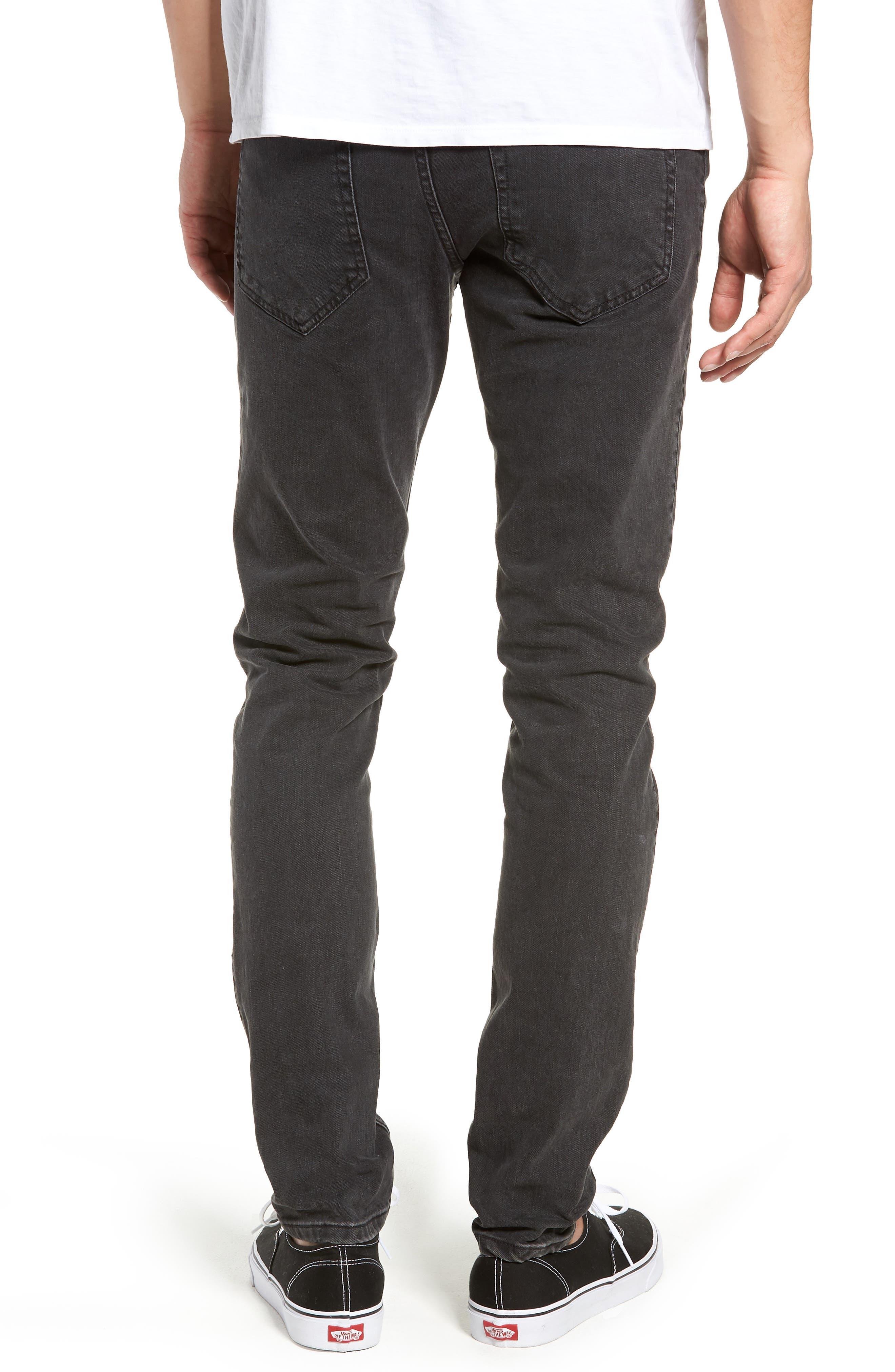 Clark Slim Straight Leg Jeans,                             Alternate thumbnail 2, color,                             Black Vintage