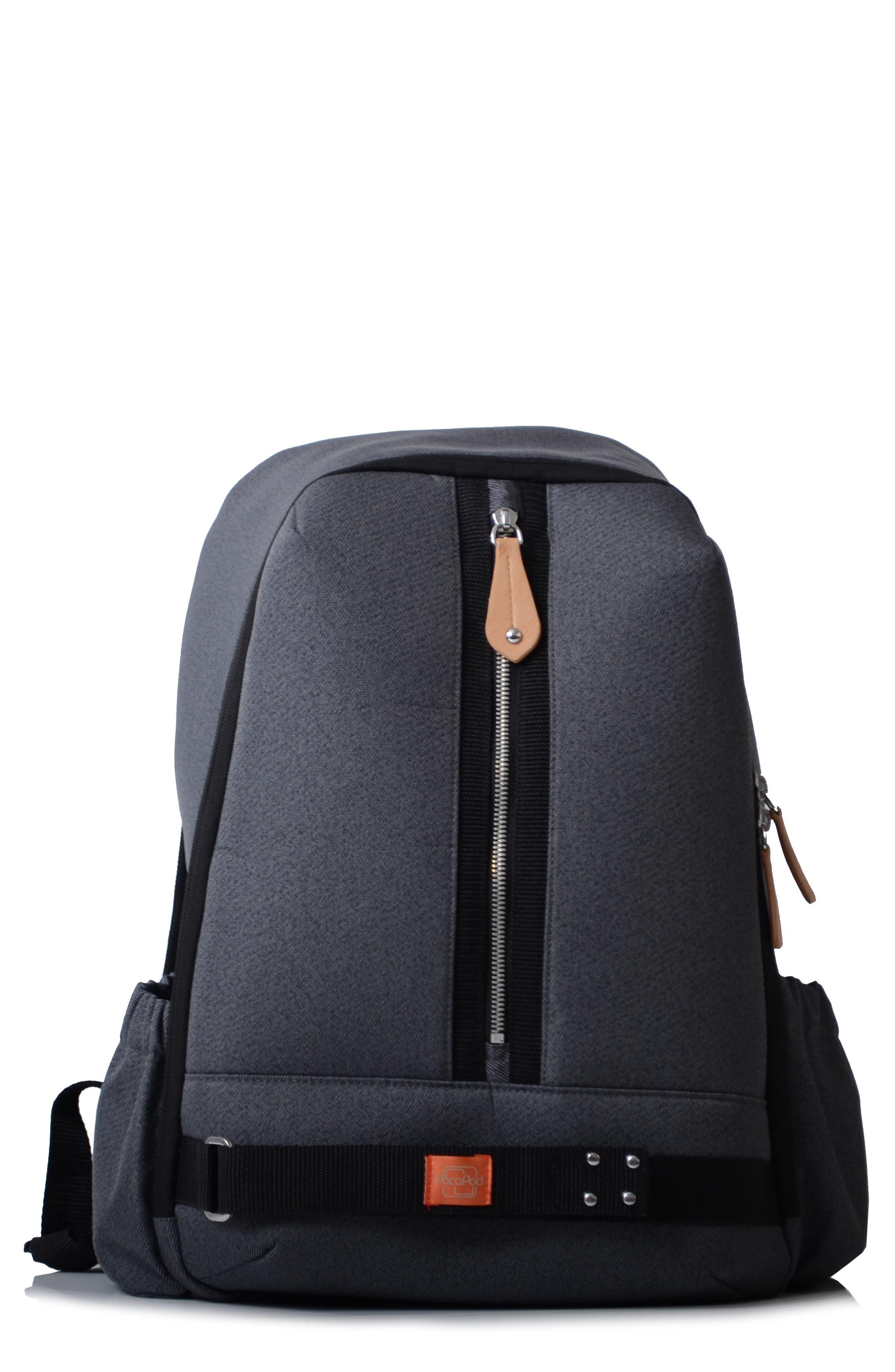 Picos Pack Diaper Backpack,                             Main thumbnail 1, color,                             Black Charcoal