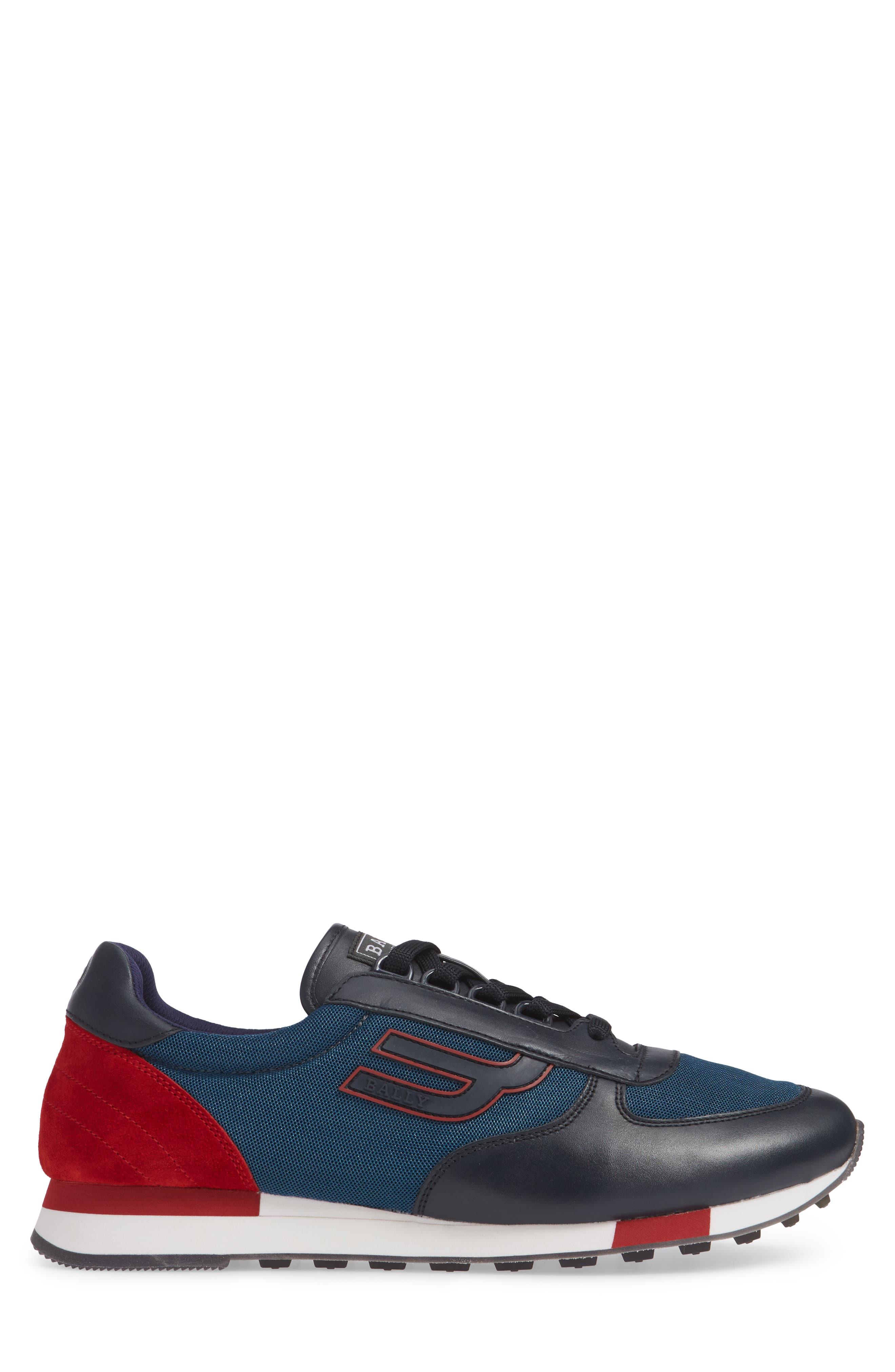 Gavino Low Top Sneaker,                             Alternate thumbnail 4, color,                             Blue