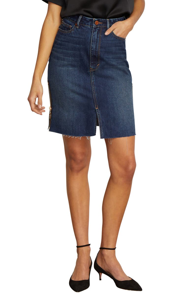 Kiera High Rise Denim Skirt