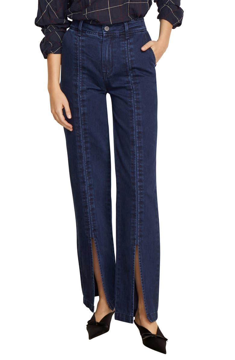 Suri High Waist Slit Front Jeans