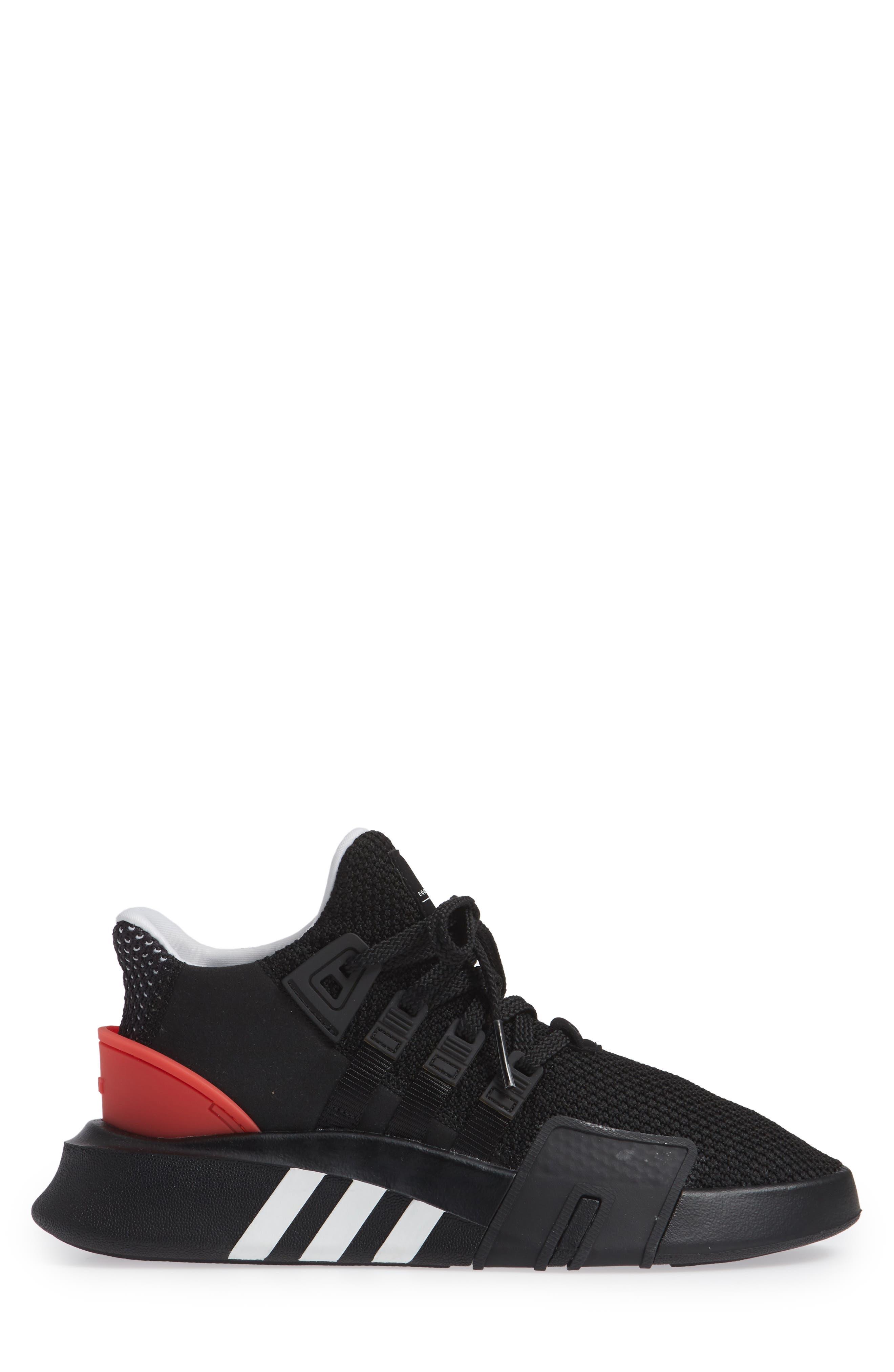 EQT Basketball ADV Sneaker,                             Alternate thumbnail 3, color,                             Black/ White/ Hi-Res Red