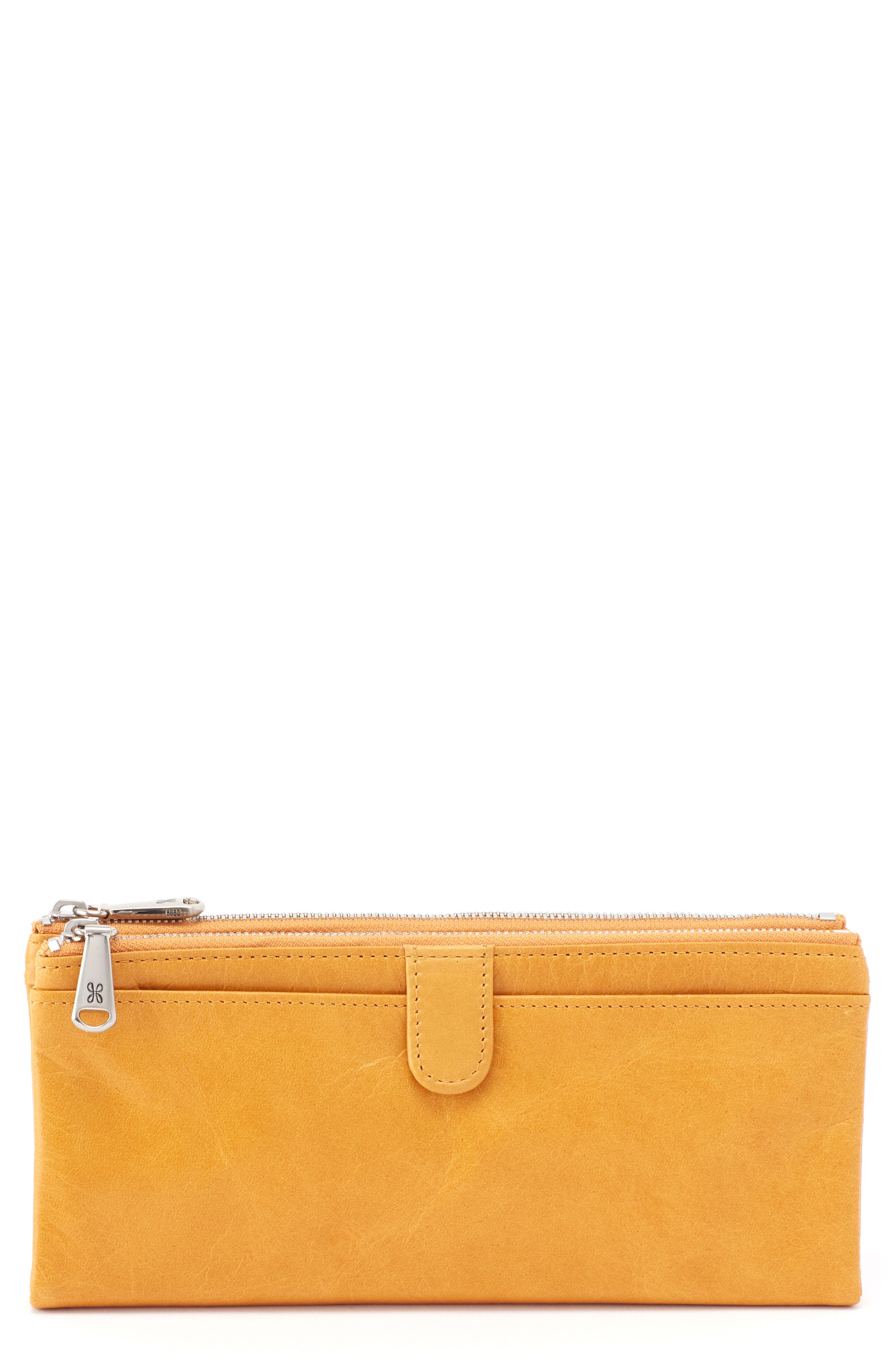 'Taylor' Glazed Leather Wallet,                         Main,                         color, Amber