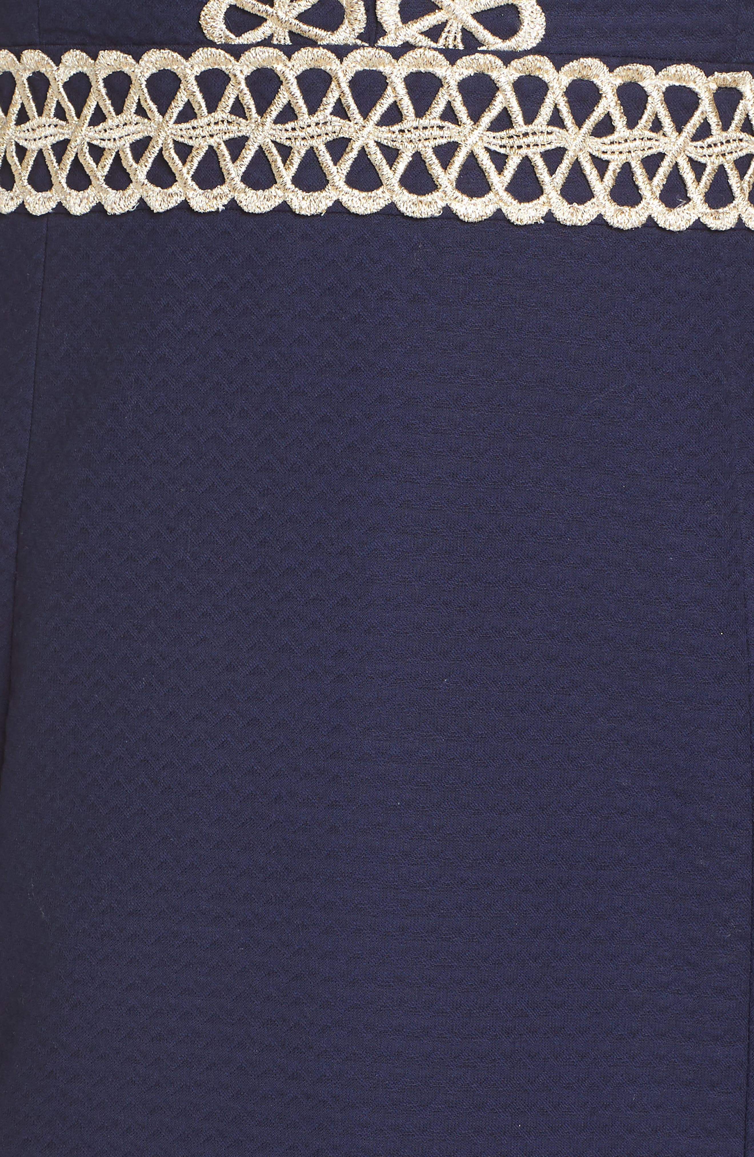 Trista Halter Sheath Dress,                             Alternate thumbnail 5, color,                             True Navy