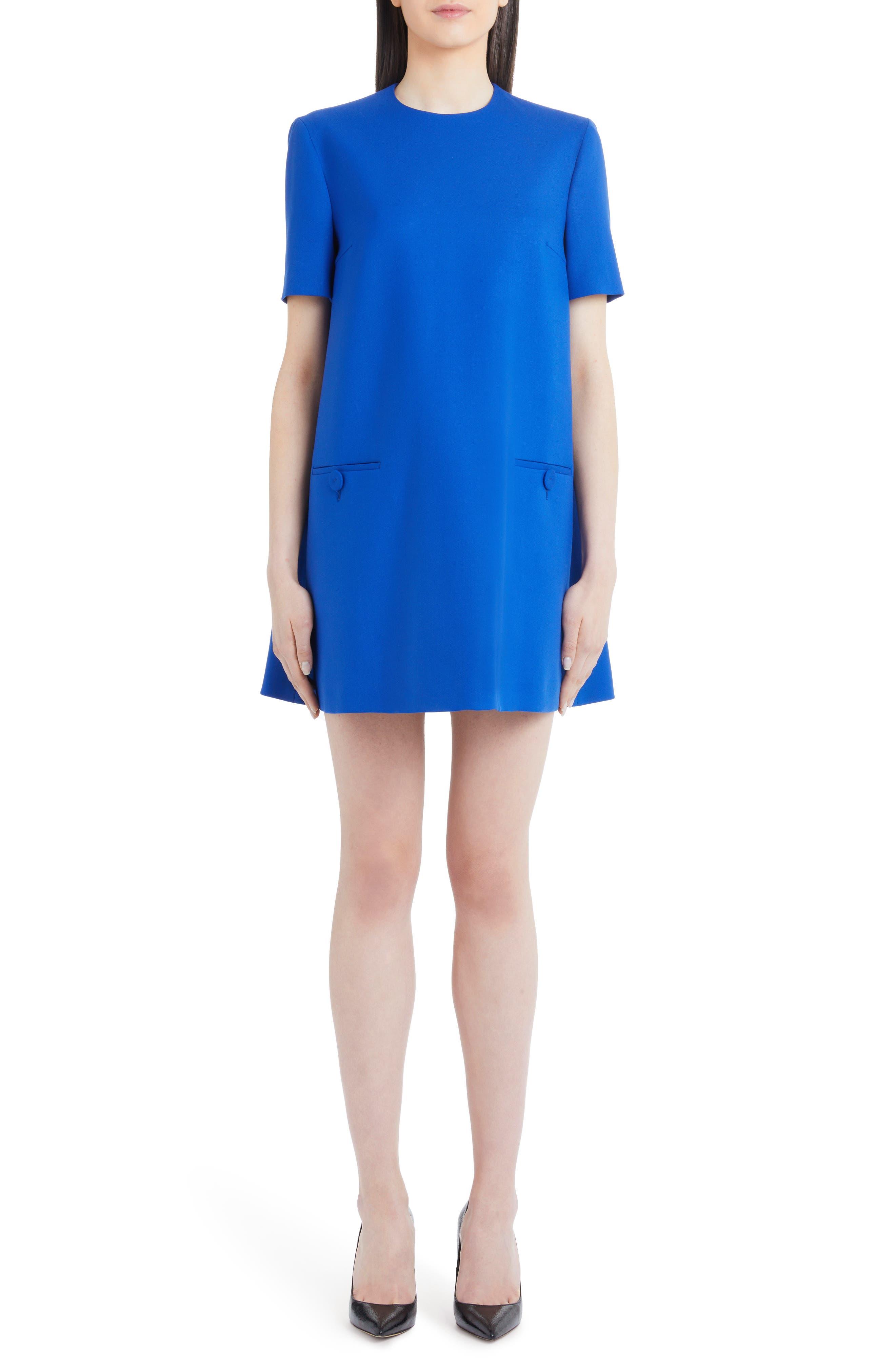 SARA BATTAGLIA STRETCH WOOL A-LINE DRESS