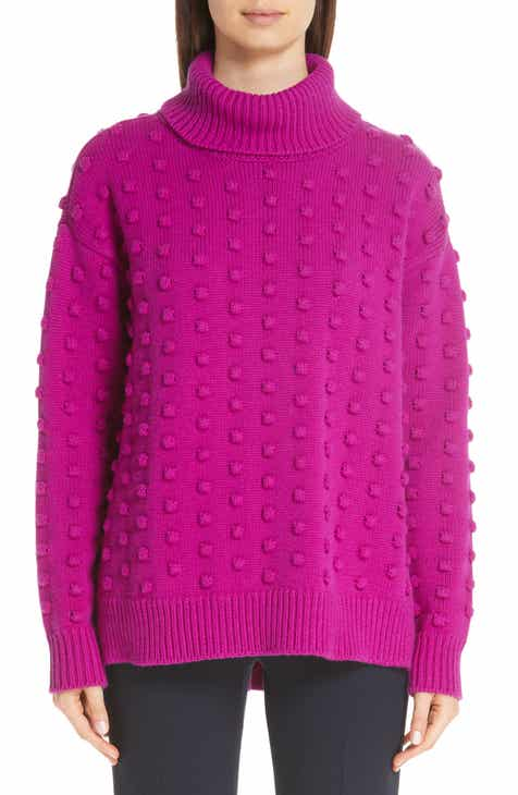 Lela Rose Dotted Wool & Cashmere Turtleneck Sweater by LELA ROSE