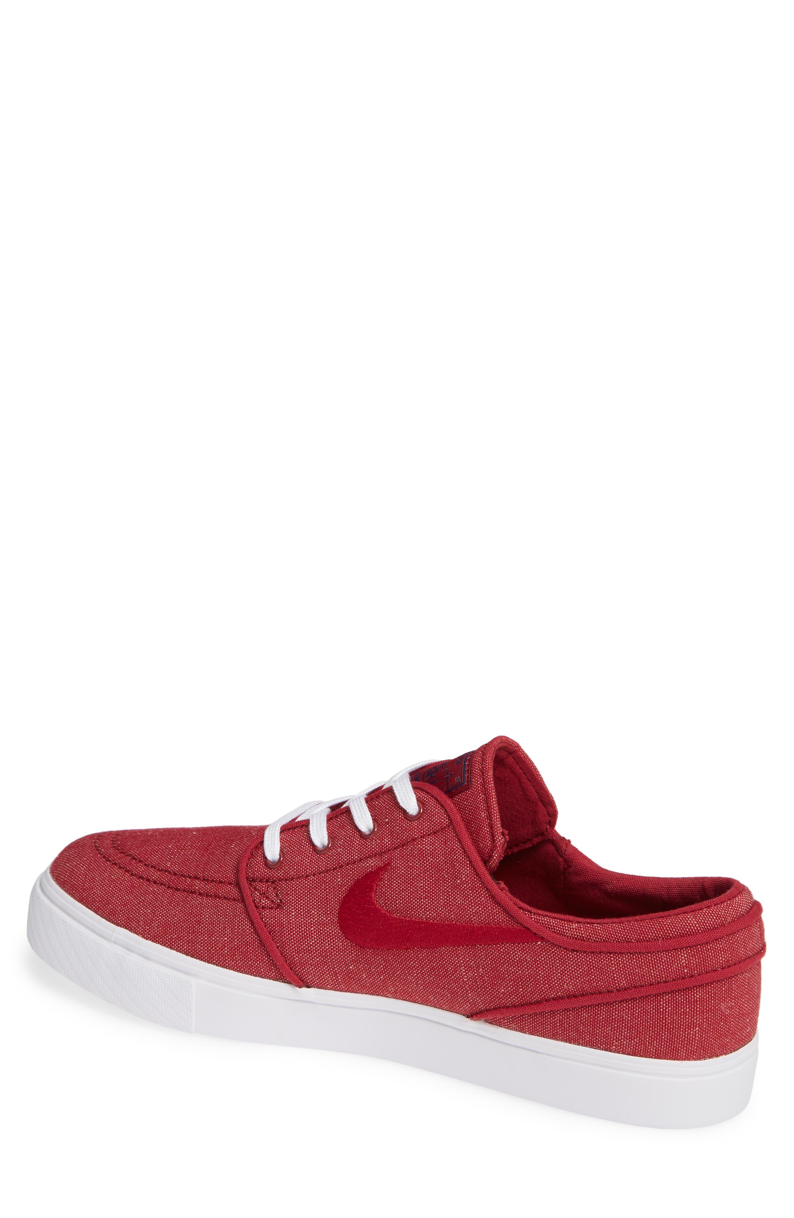 Zoom - Stefan Janoski SB Canvas Skate Shoe,                             Alternate thumbnail 2, color,                             Red Crush/ White