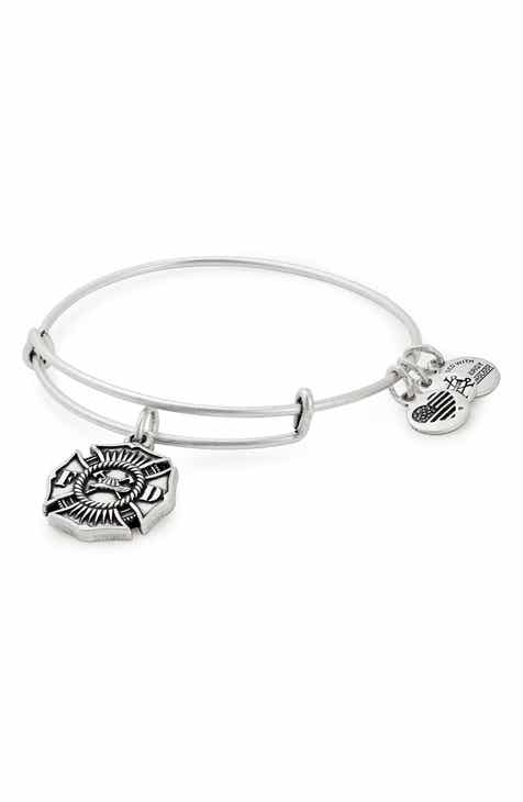 Alex and Ani Firefighter Emblem Adjustable Wire Bangle
