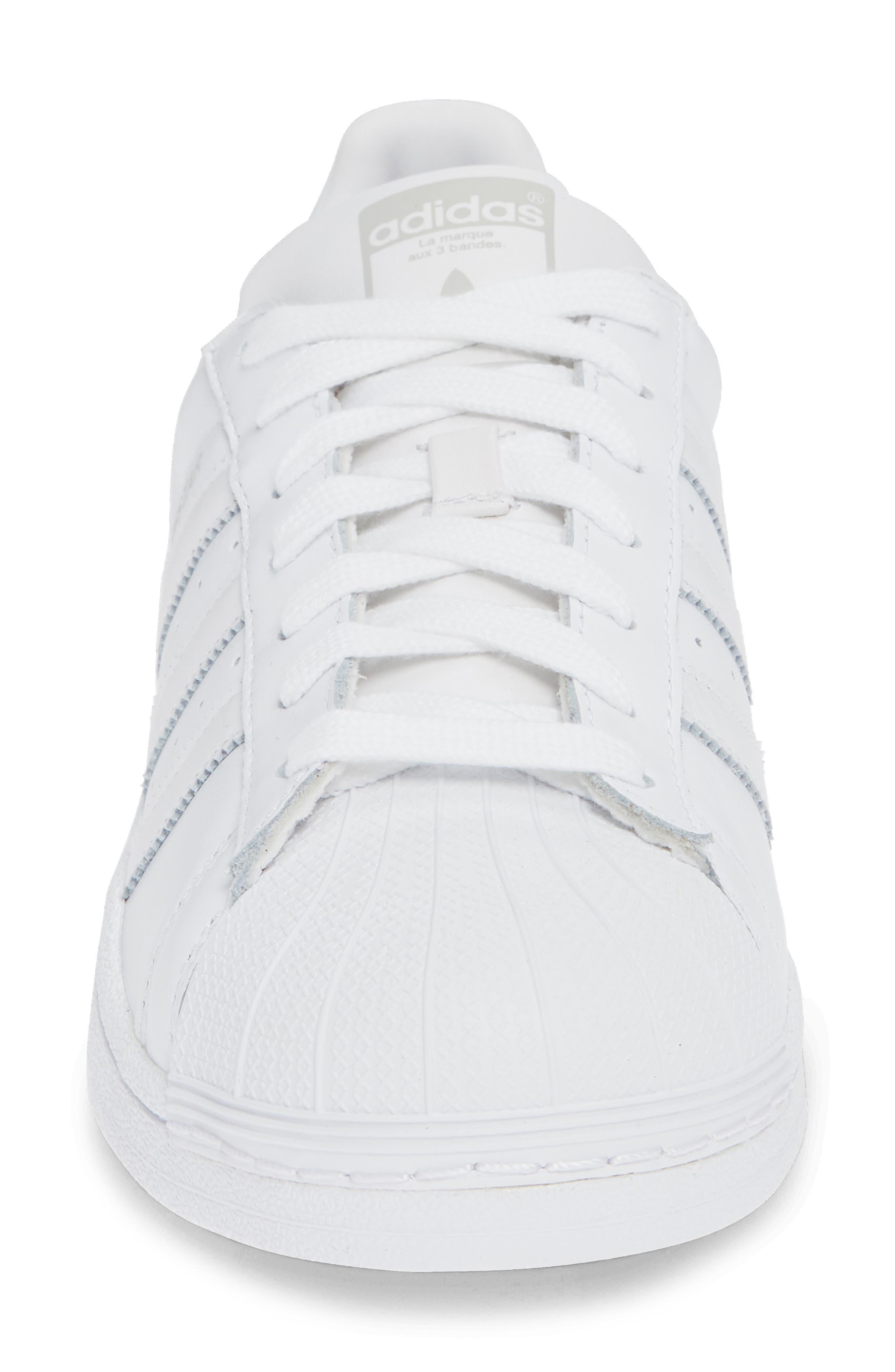 Superstar Sneaker,                             Alternate thumbnail 6, color,                             White/ White/ Grey One