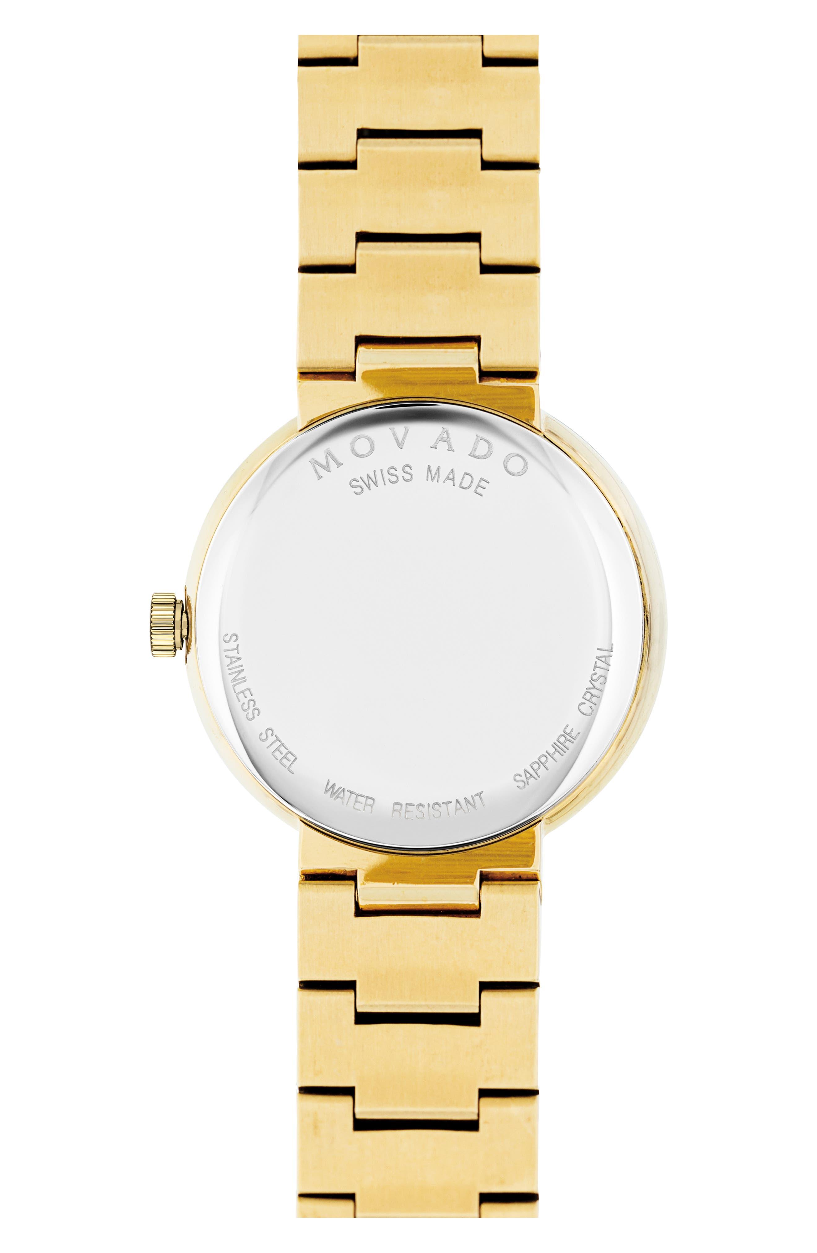 Sapphire Bracelet Watch, 26mm,                             Alternate thumbnail 2, color,                             Gold/ Black/ Gold