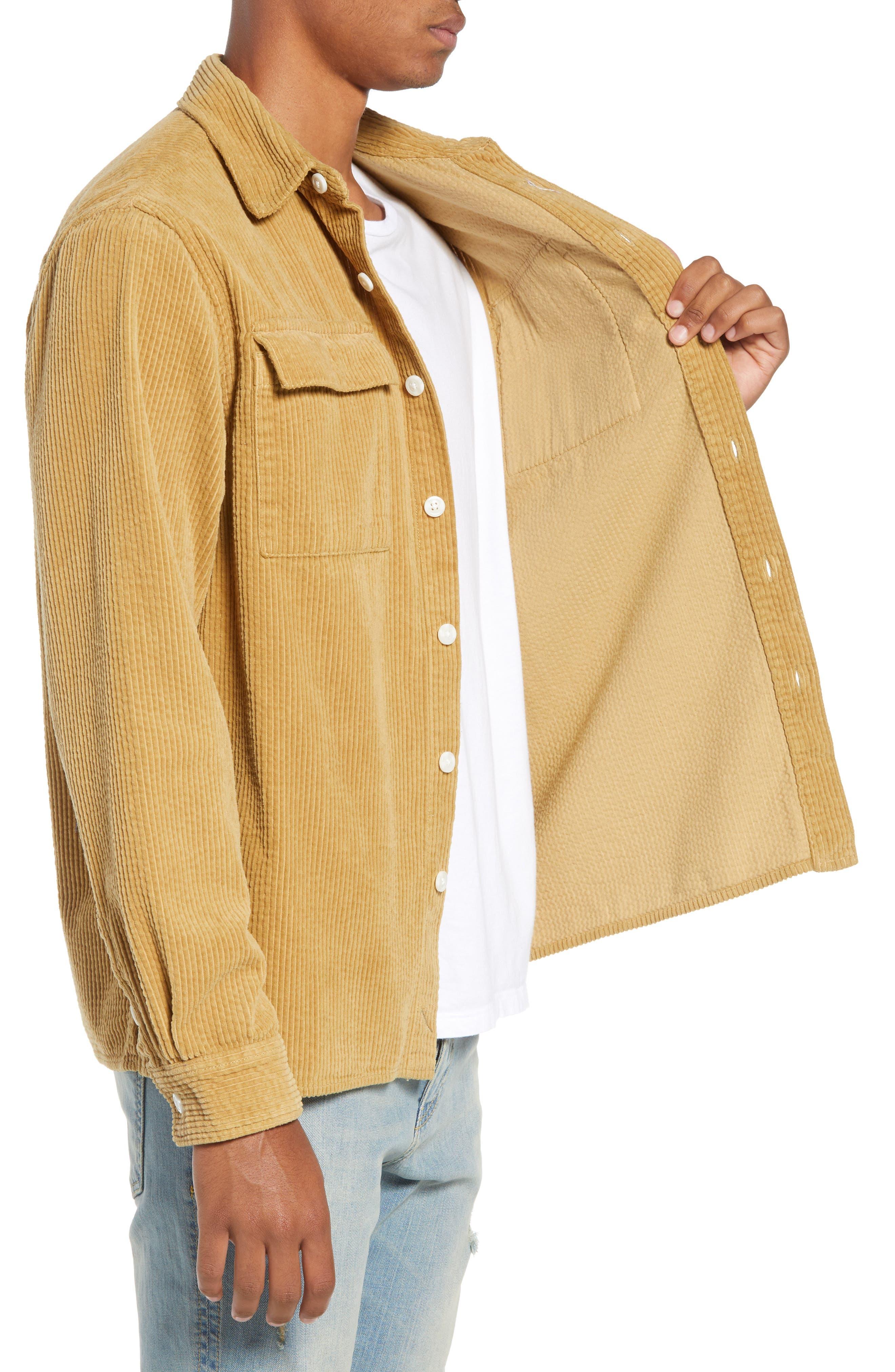 Magnus Heavy Corduroy Shirt,                             Alternate thumbnail 4, color,                             British Khaki