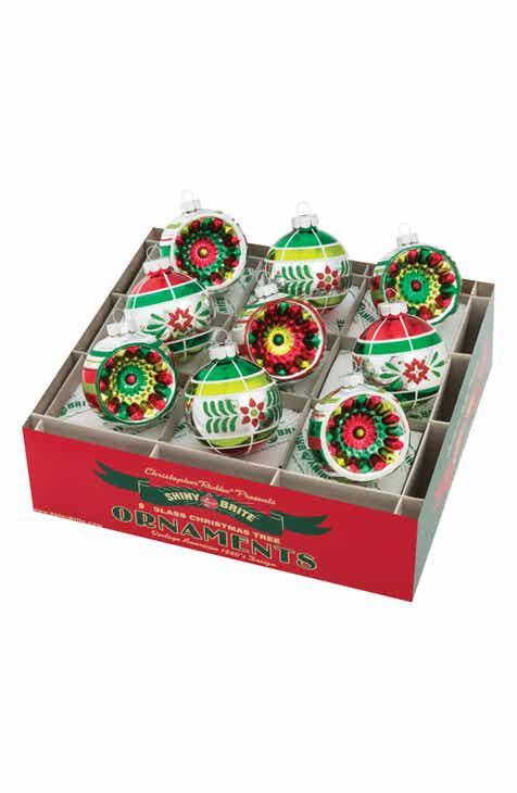 christopher radko holiday splendor set of 9 ornaments